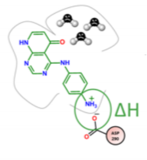 Protonation effect in an active site