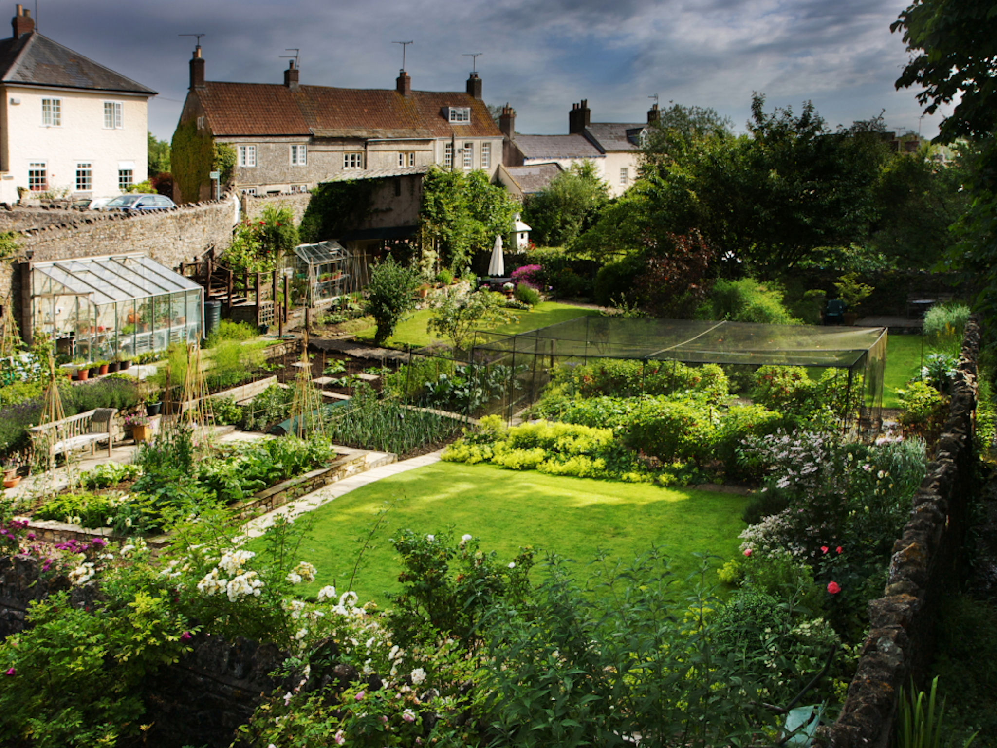View over the vegetable garden