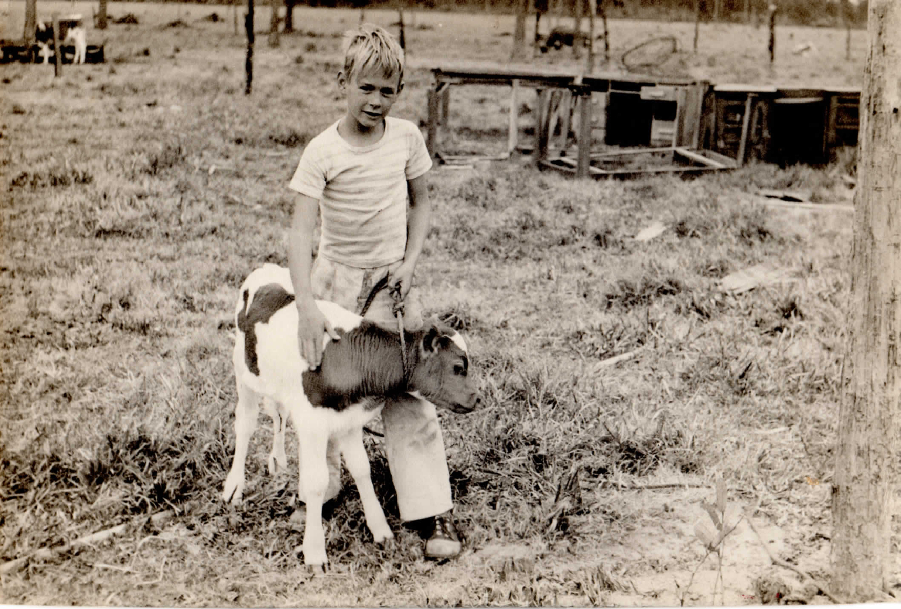 On the farm: my Dad as a young boy