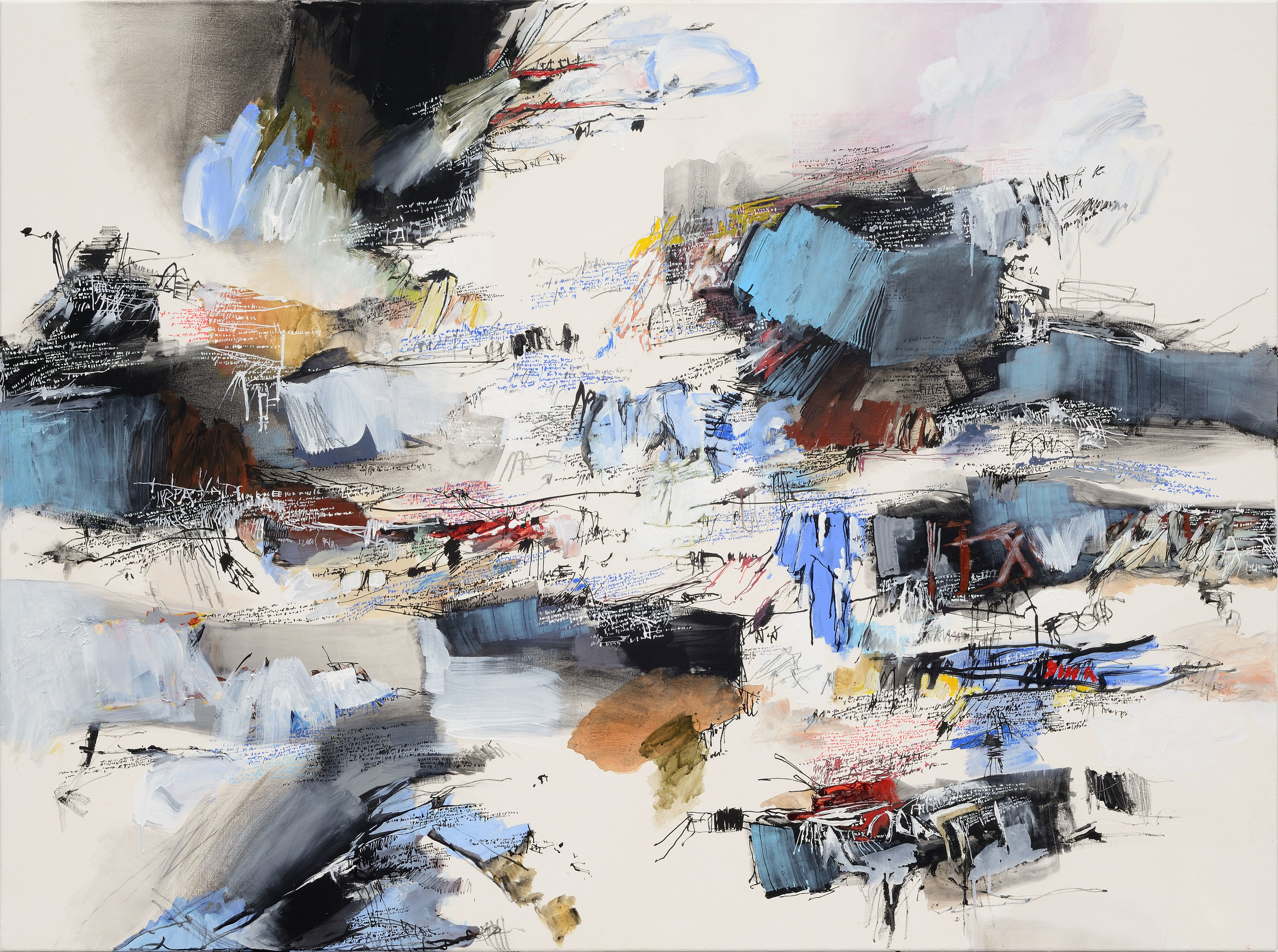 Galerie Koo_Jean-Philippe DUBOSCQ_2014-PA-09_2014_Mixed media on canvas_120x160cm_USD11,000.jpg