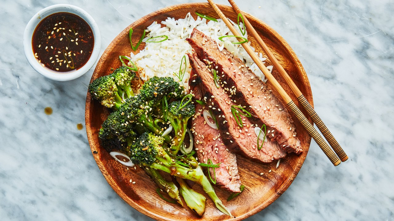Grilled Beef with Broccoli