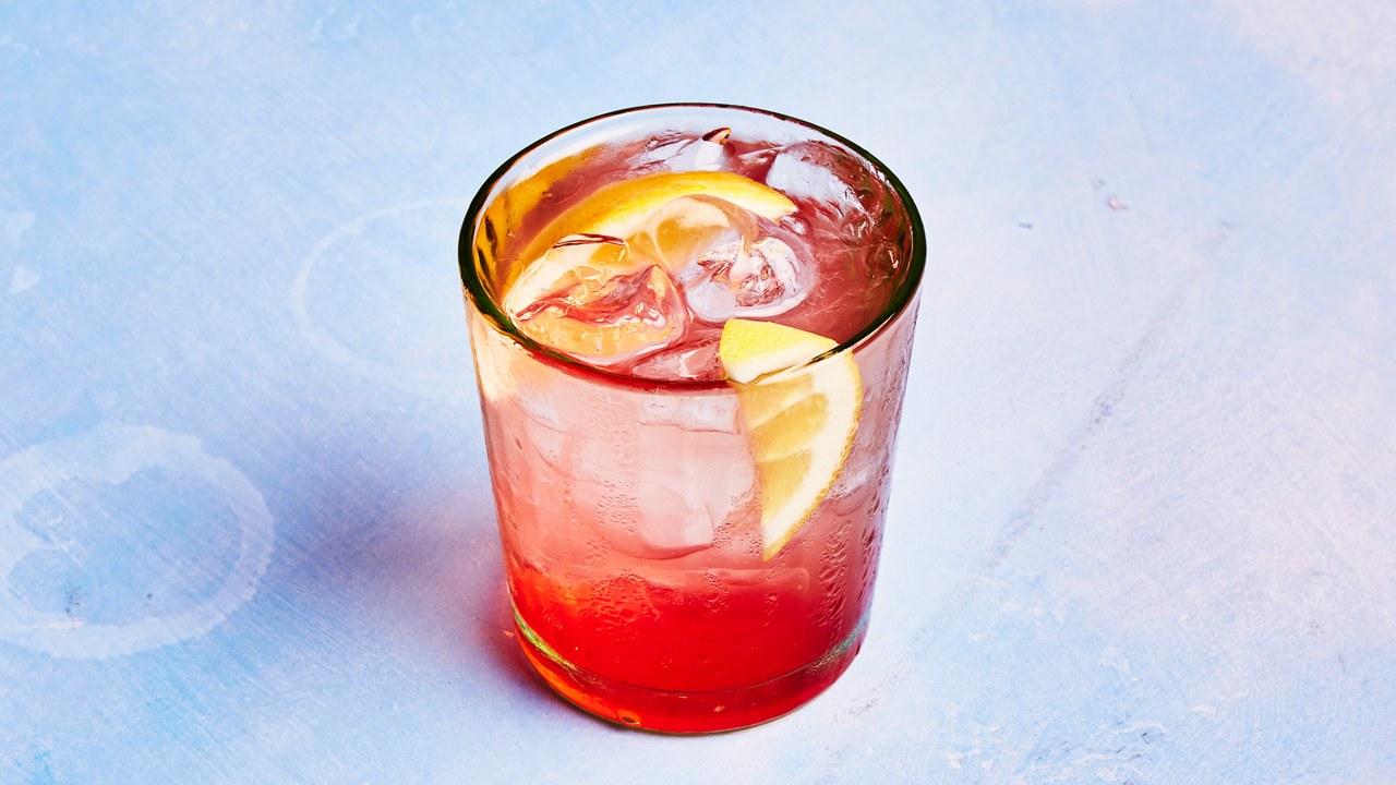 Rosy Gin-Kombucha Cocktail