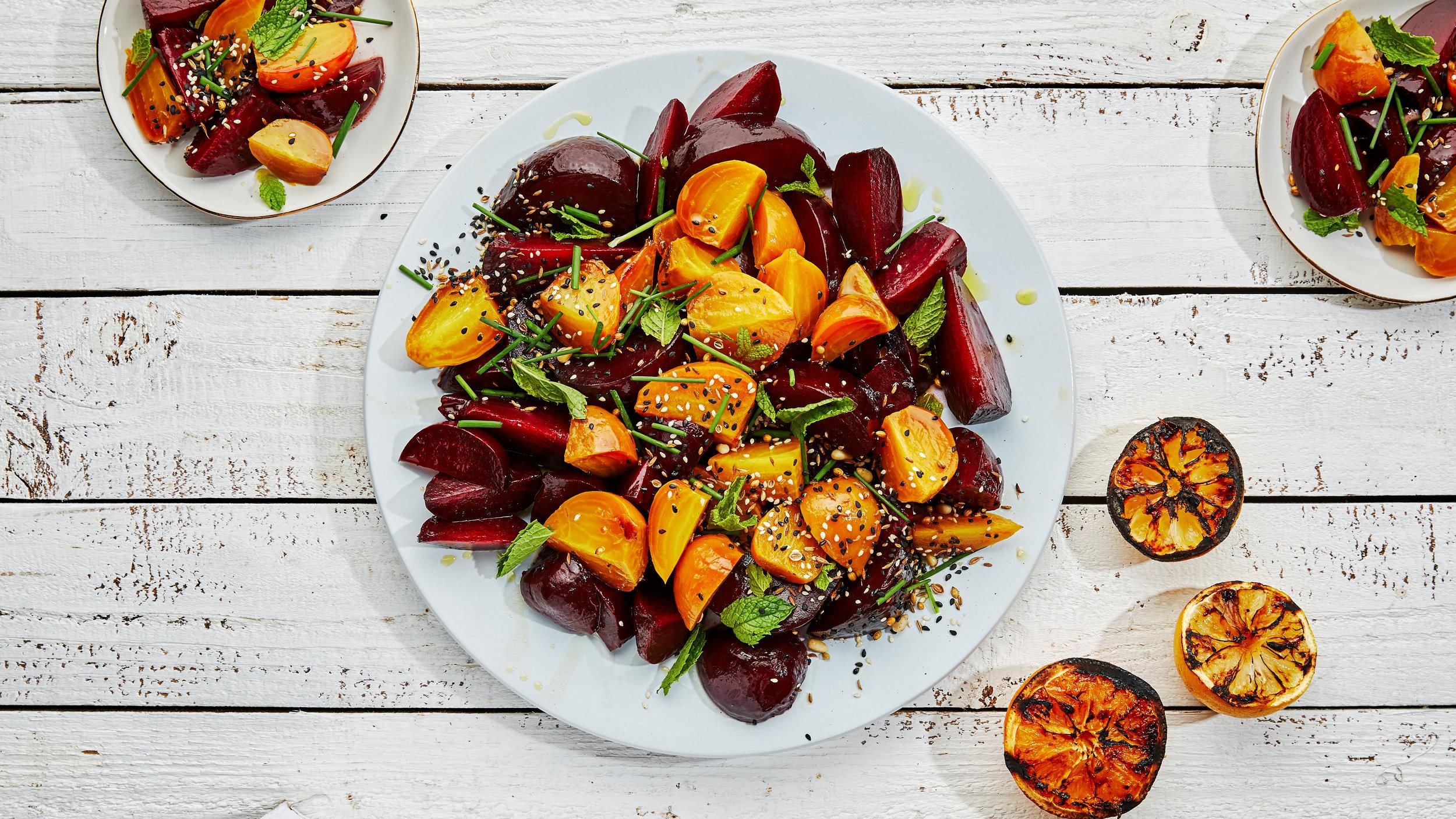 Grilled Beet & Charred Citrus Salad