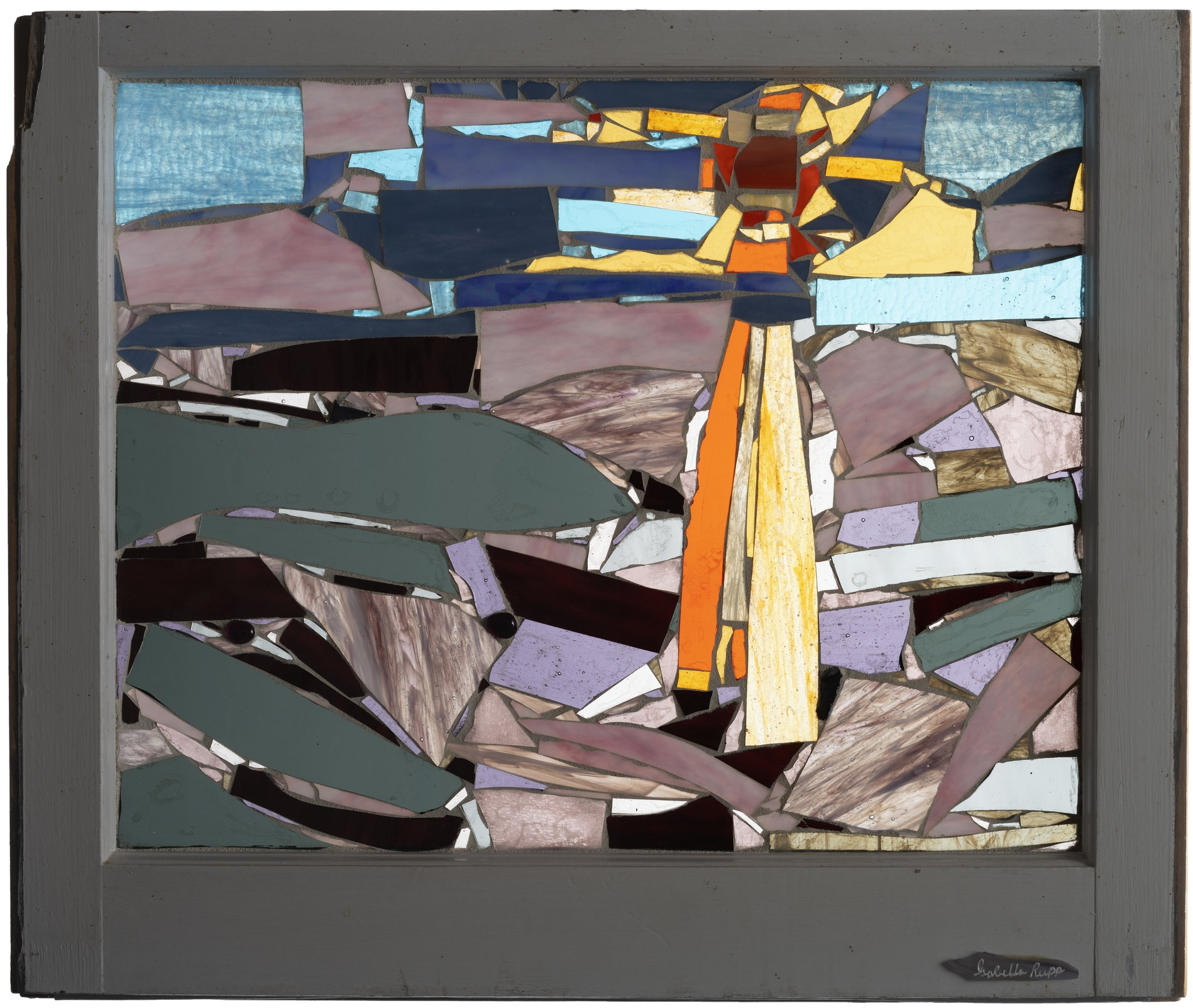 Long Beach, 2003. Glass, 23 x 18 in.   Window from Chelsea, New York, NY