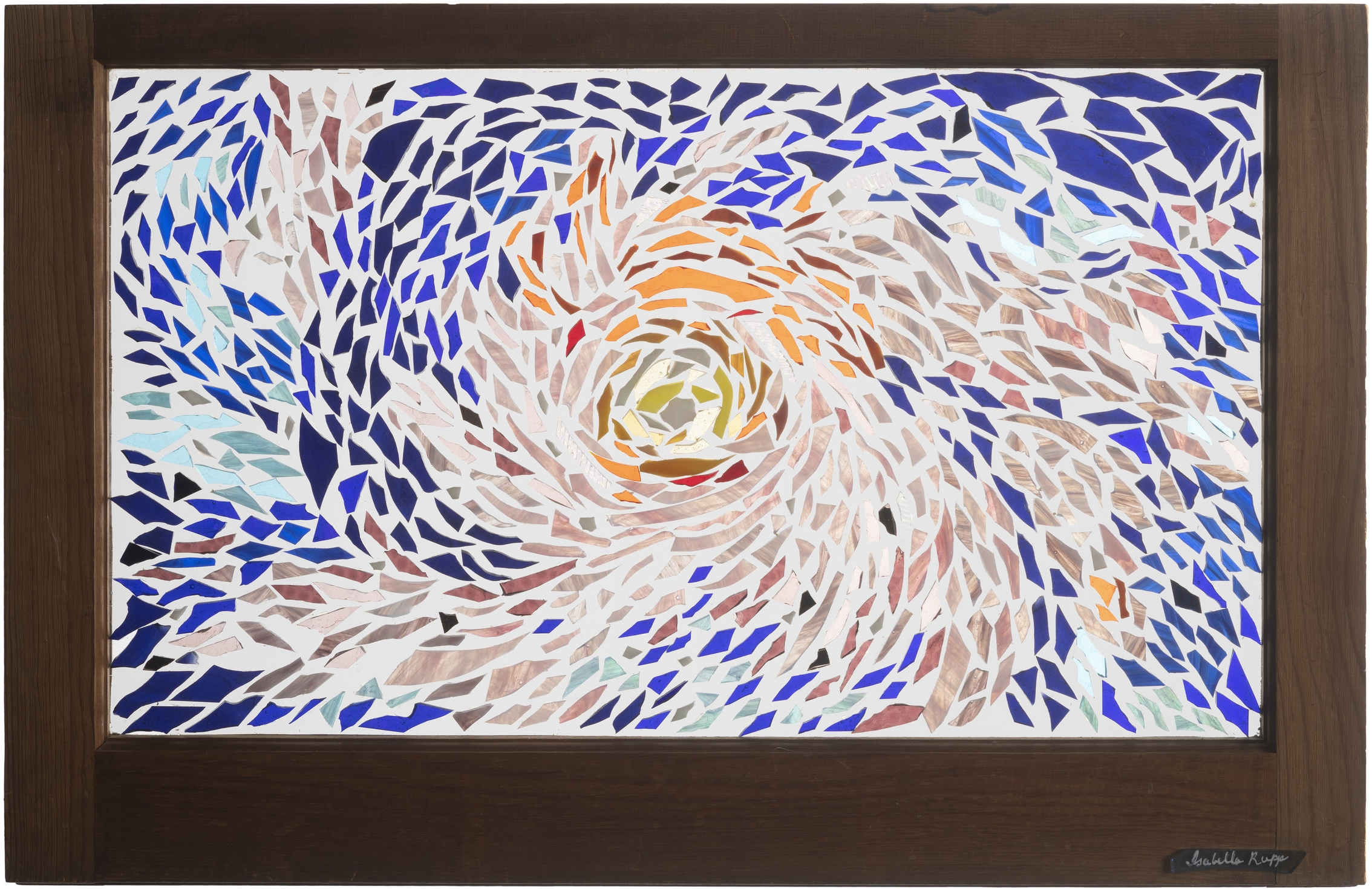 Milky Way, 2001. Glass, 17½ x 28 in.   50-year old wood frame window from 1805 farmhouse in Catskill Mountains, NY