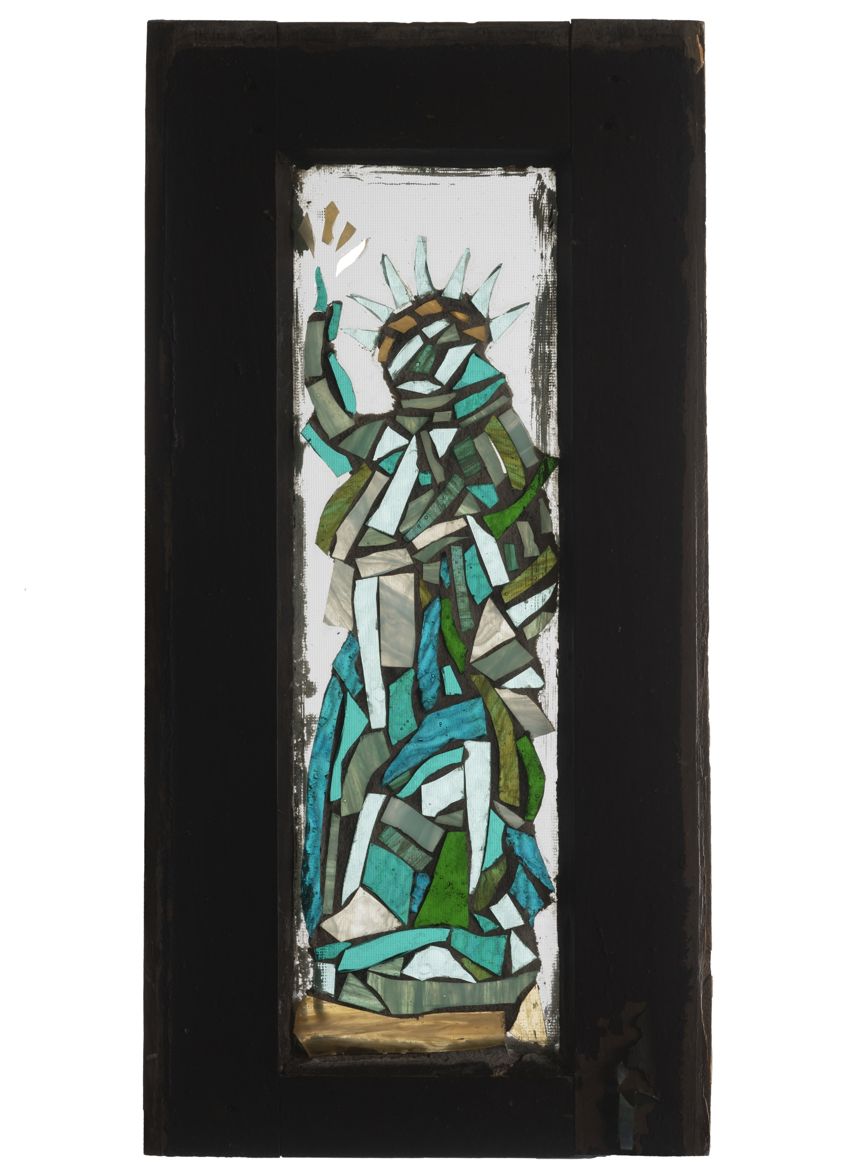 Liberty, 2001. Glass, 16 x 8 in.   Window from West 24th St., New York, NY