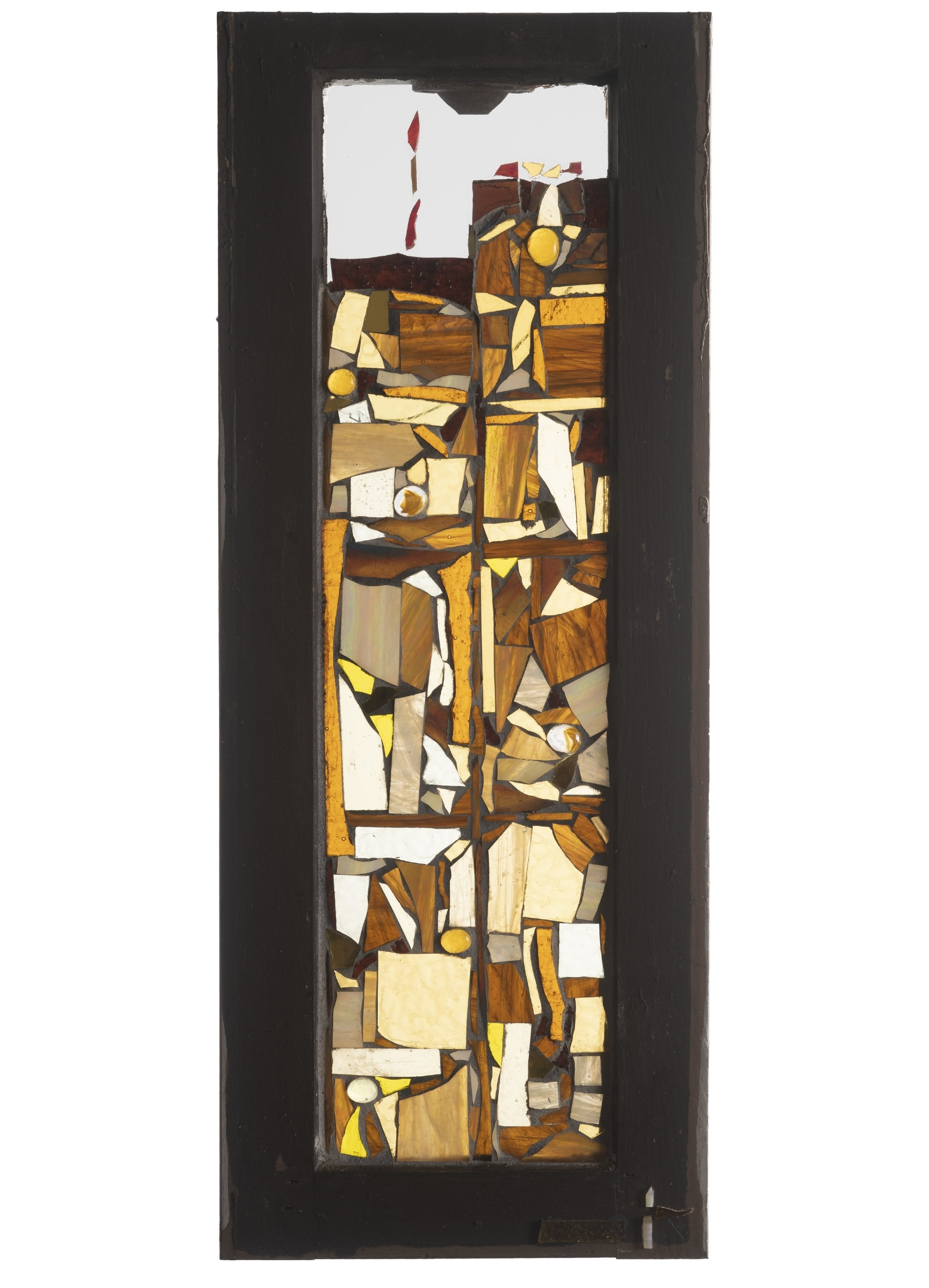 The Twins, 2001. Glass, 28 x 10 in.   Window from West 24th St., New York, NY