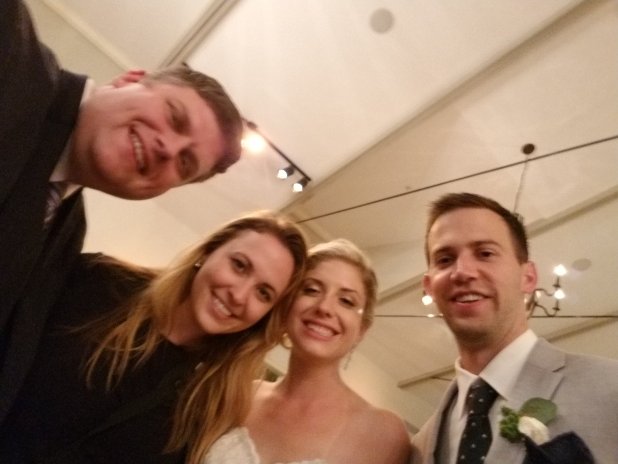 An unfocused selfie by Jason with an awesome Beach Club couple and photographer Natalie Franke on her last official wedding before heading to the West Coast. This is one reason why I always leave the photos to the professionals :)