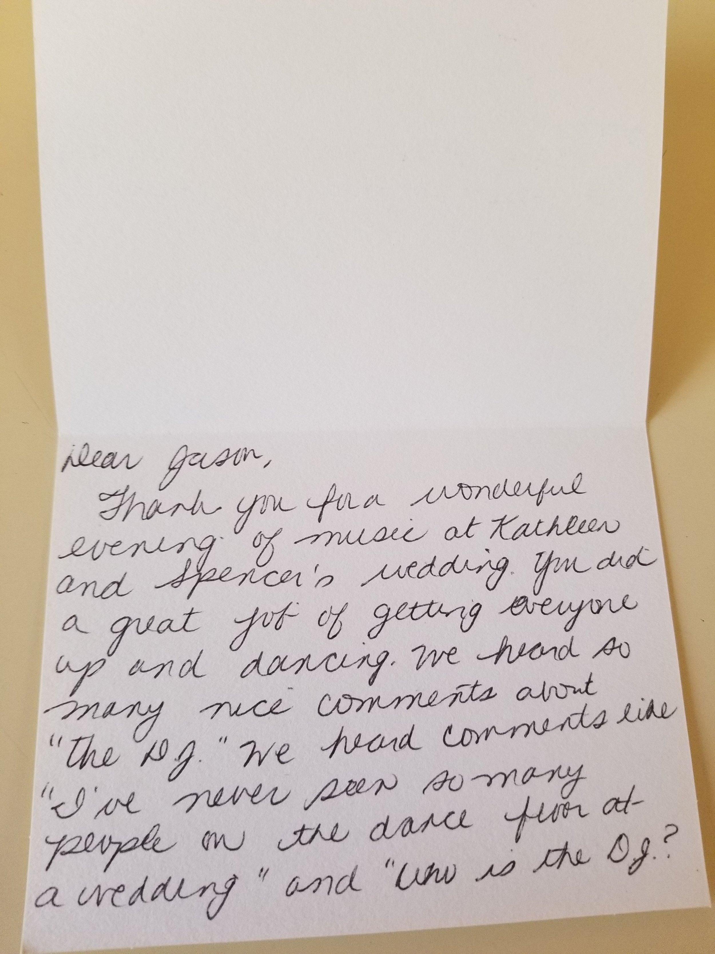 Bills, bills, junk mail, bills… parental approval thank you notes?  Priceless.