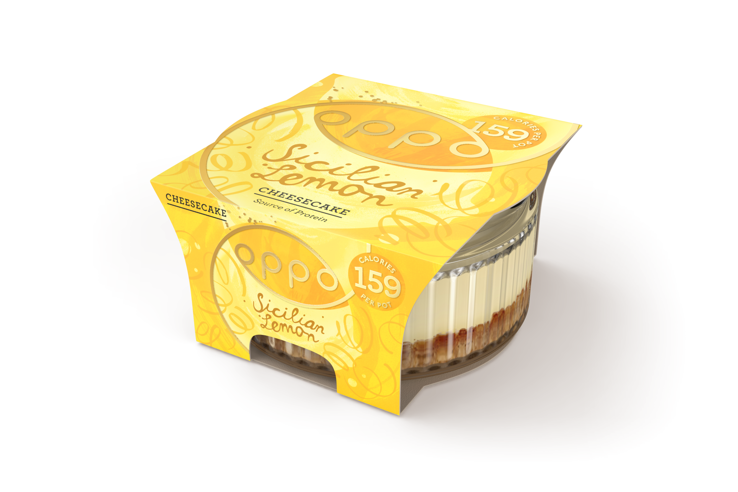 Oppo Sicilian Lemon Cheesecake Low Calorie
