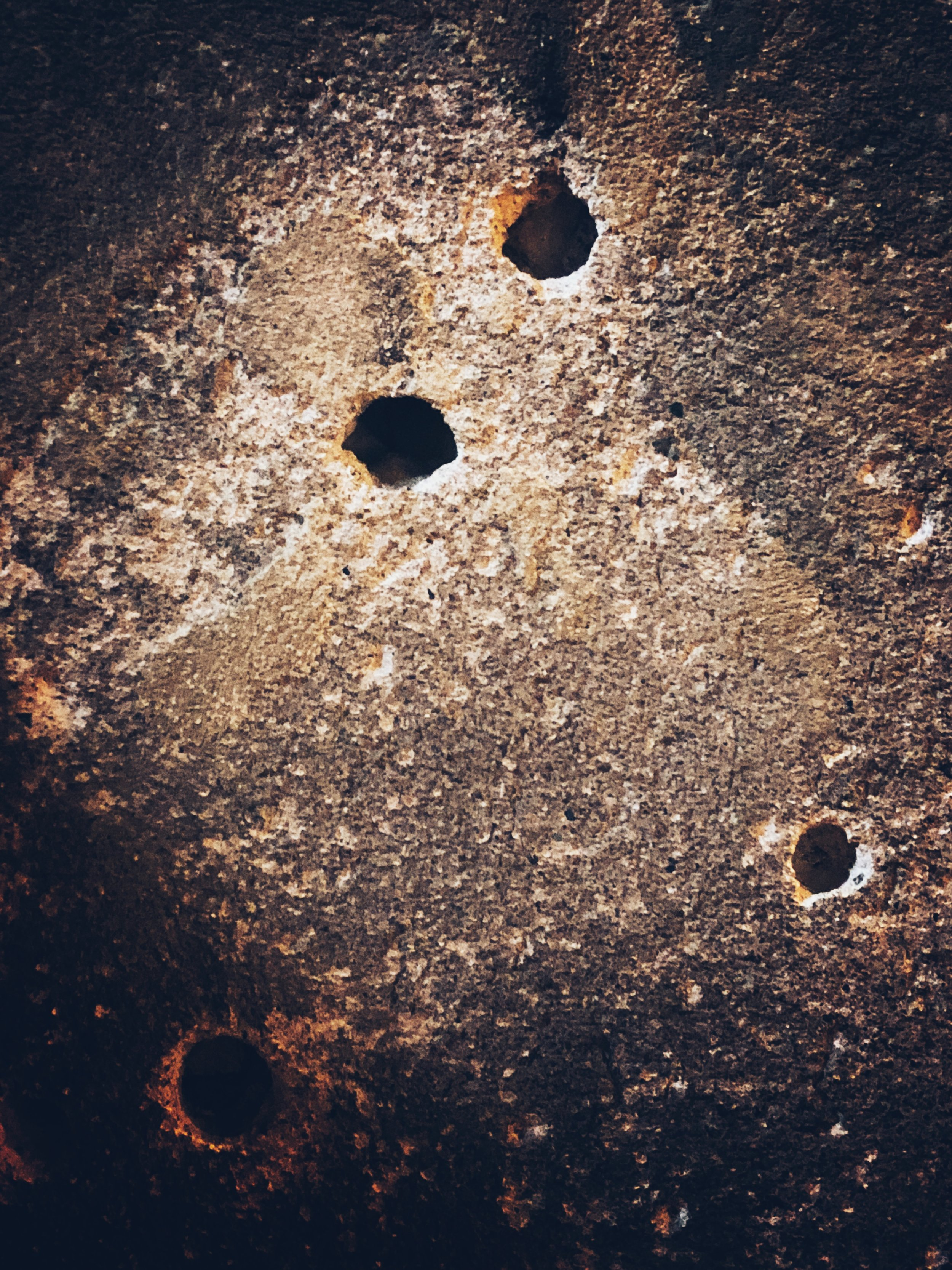bullet holes in the crypt