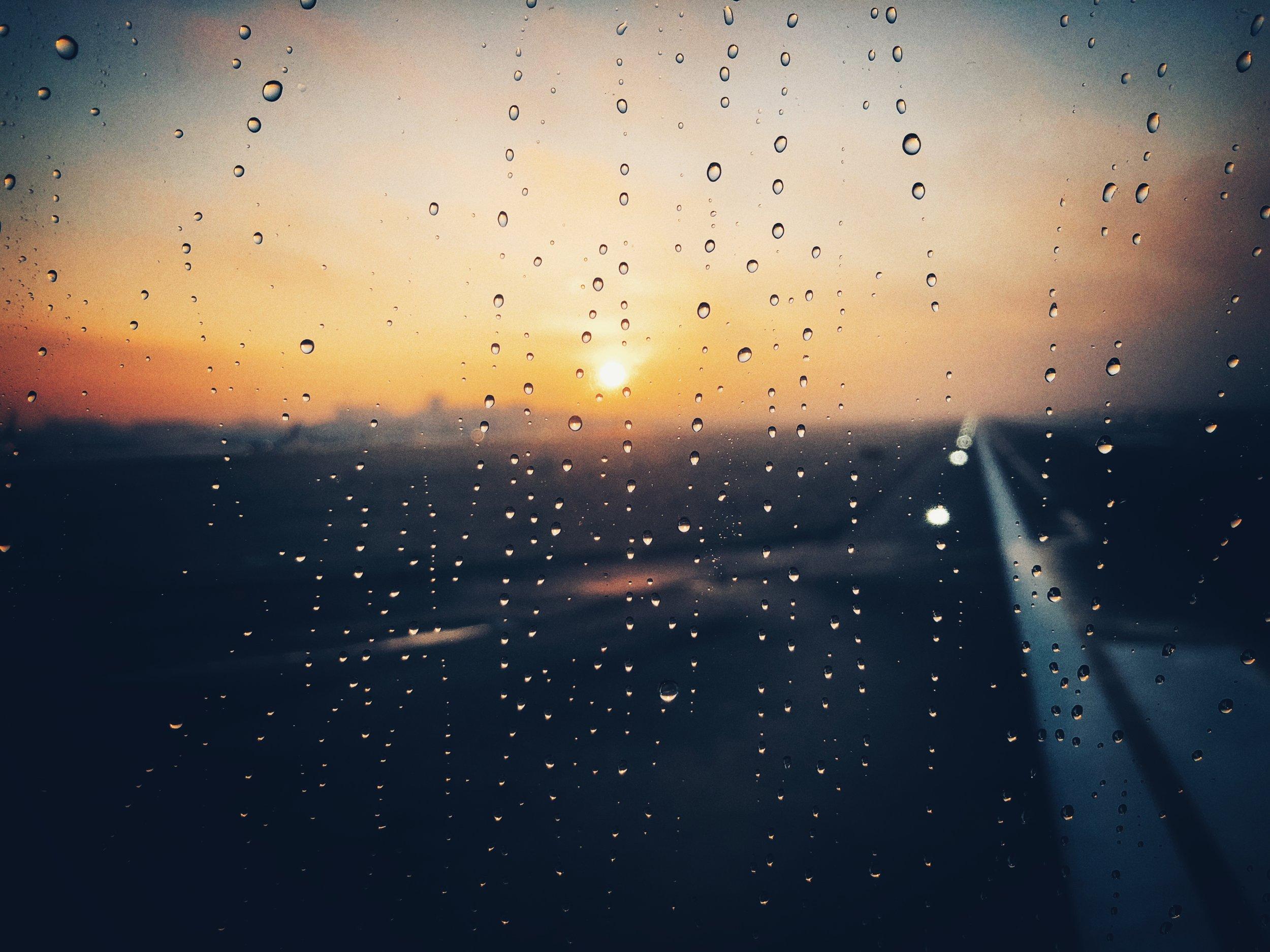 chopin airport, sunrise