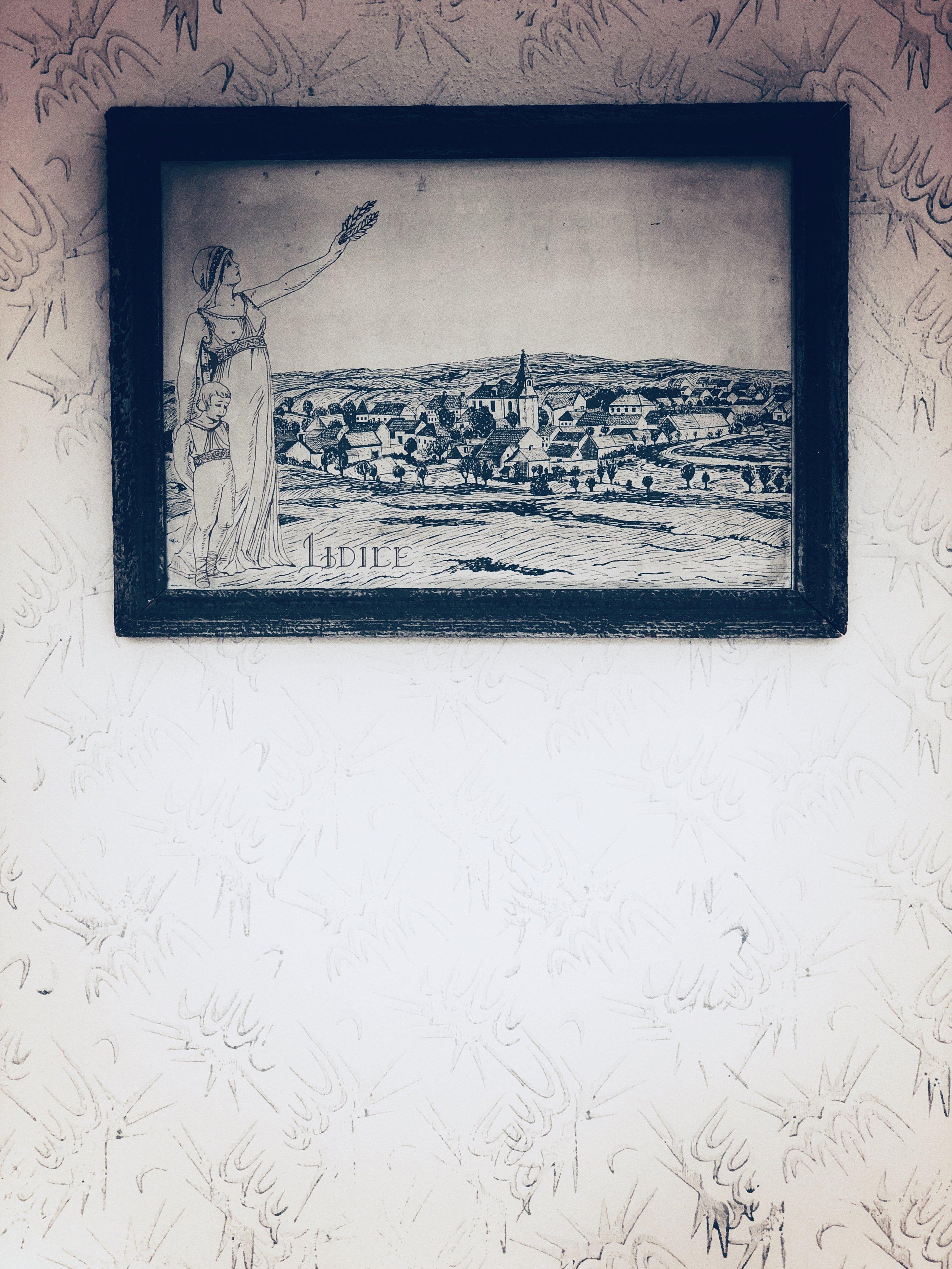 new lidice museum - vintage print