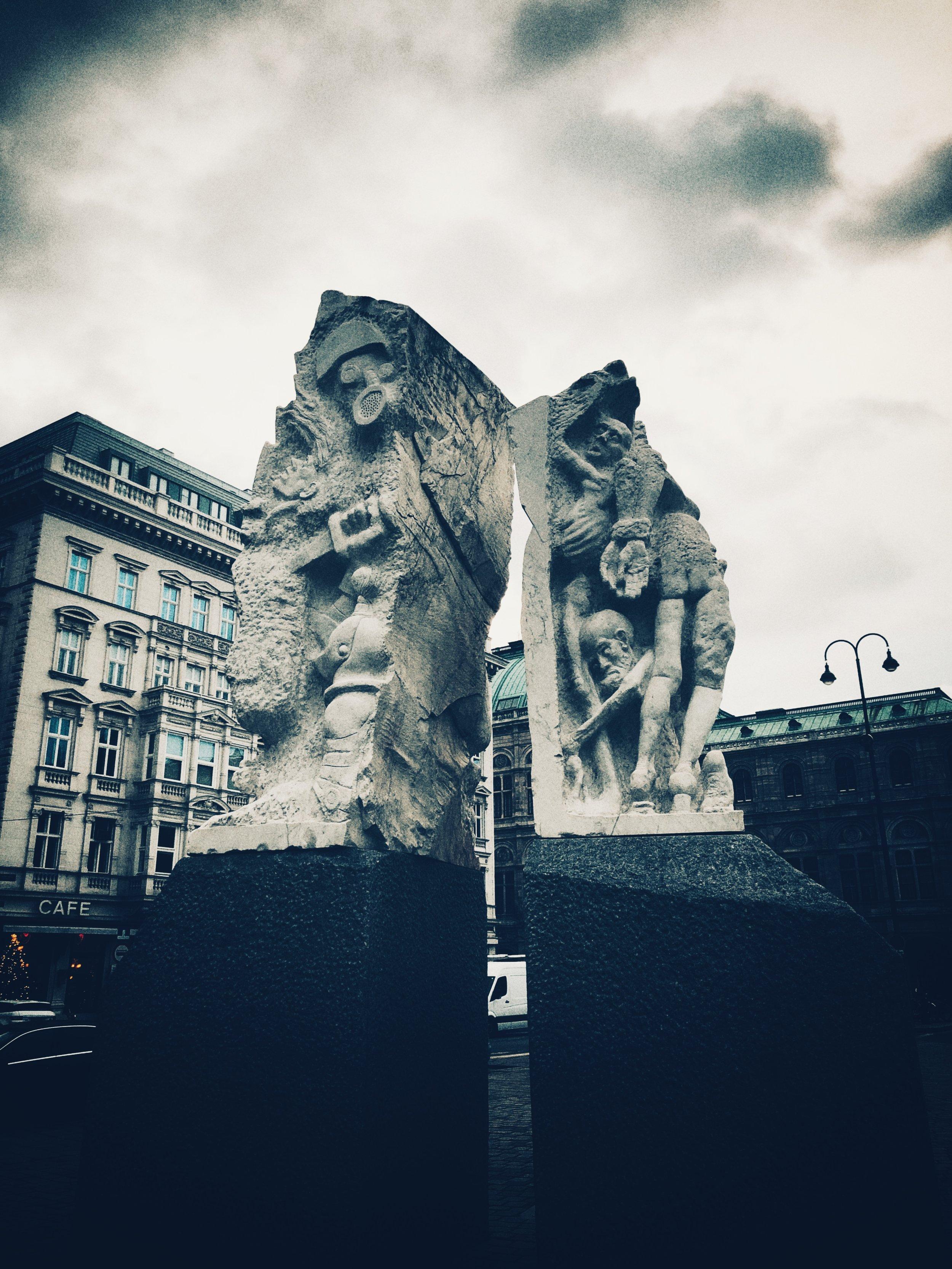 monument against war and fascism, albertinaplatz