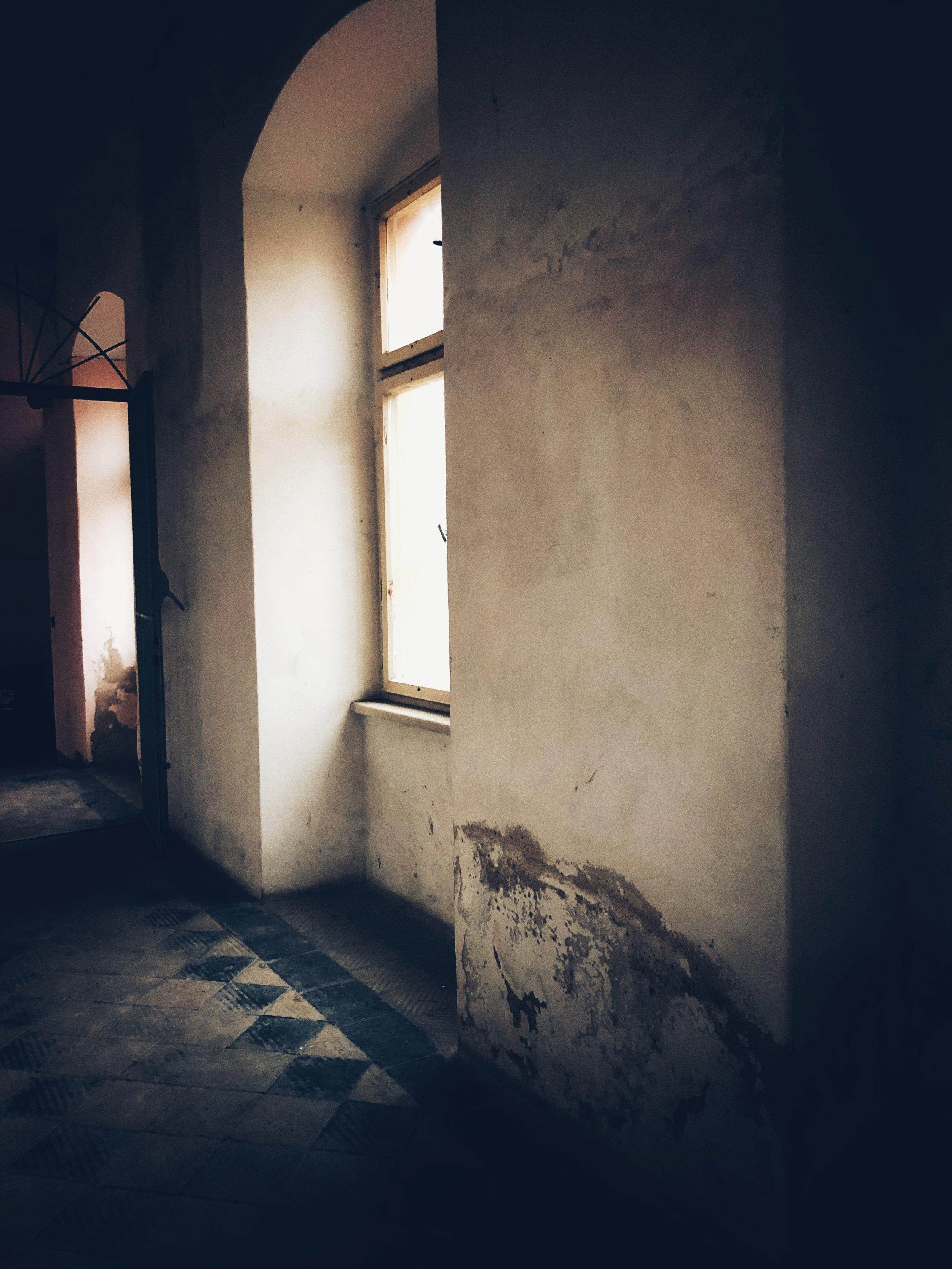 prisoner's barracks hallway