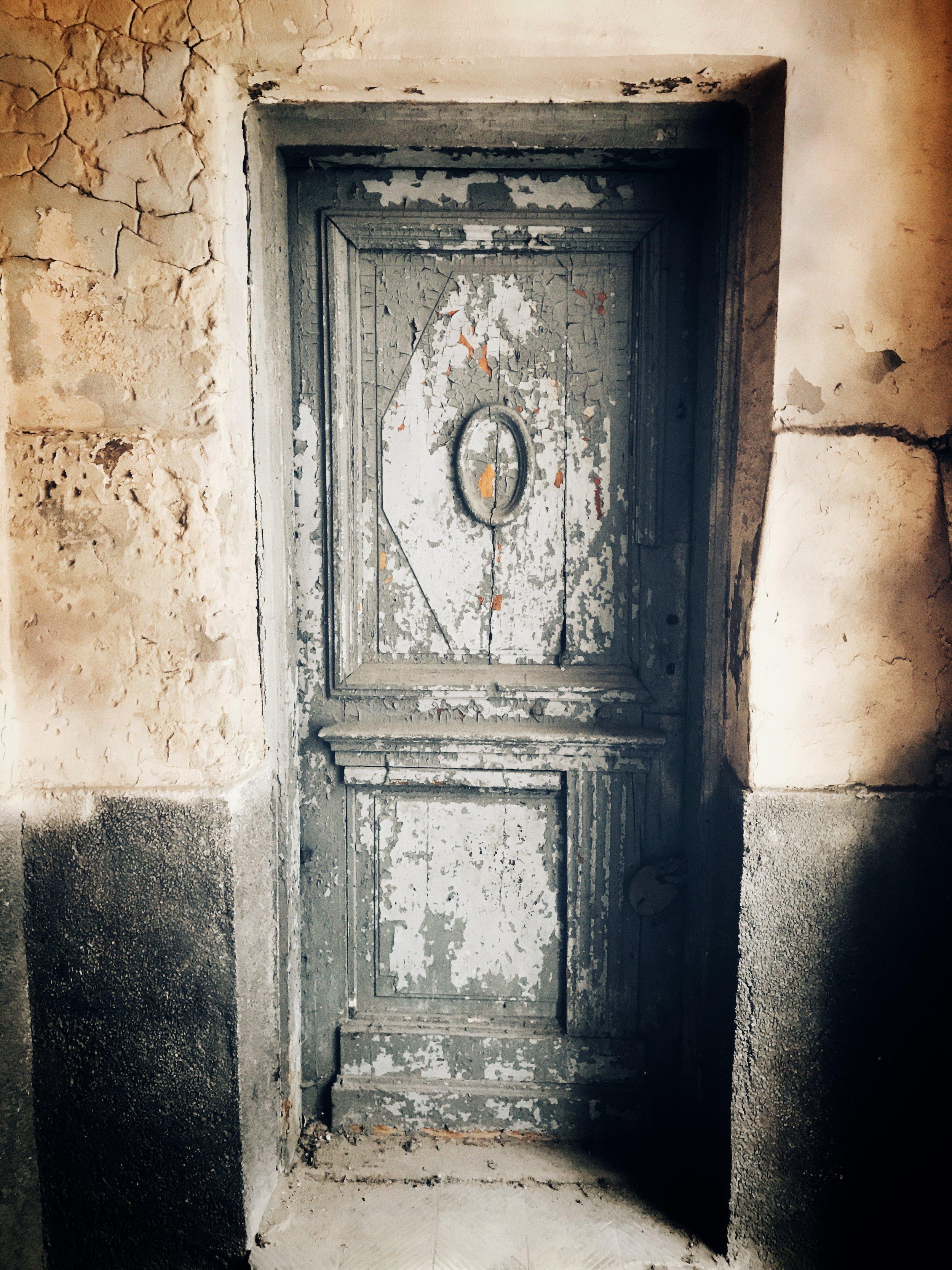 doorway, survived the war