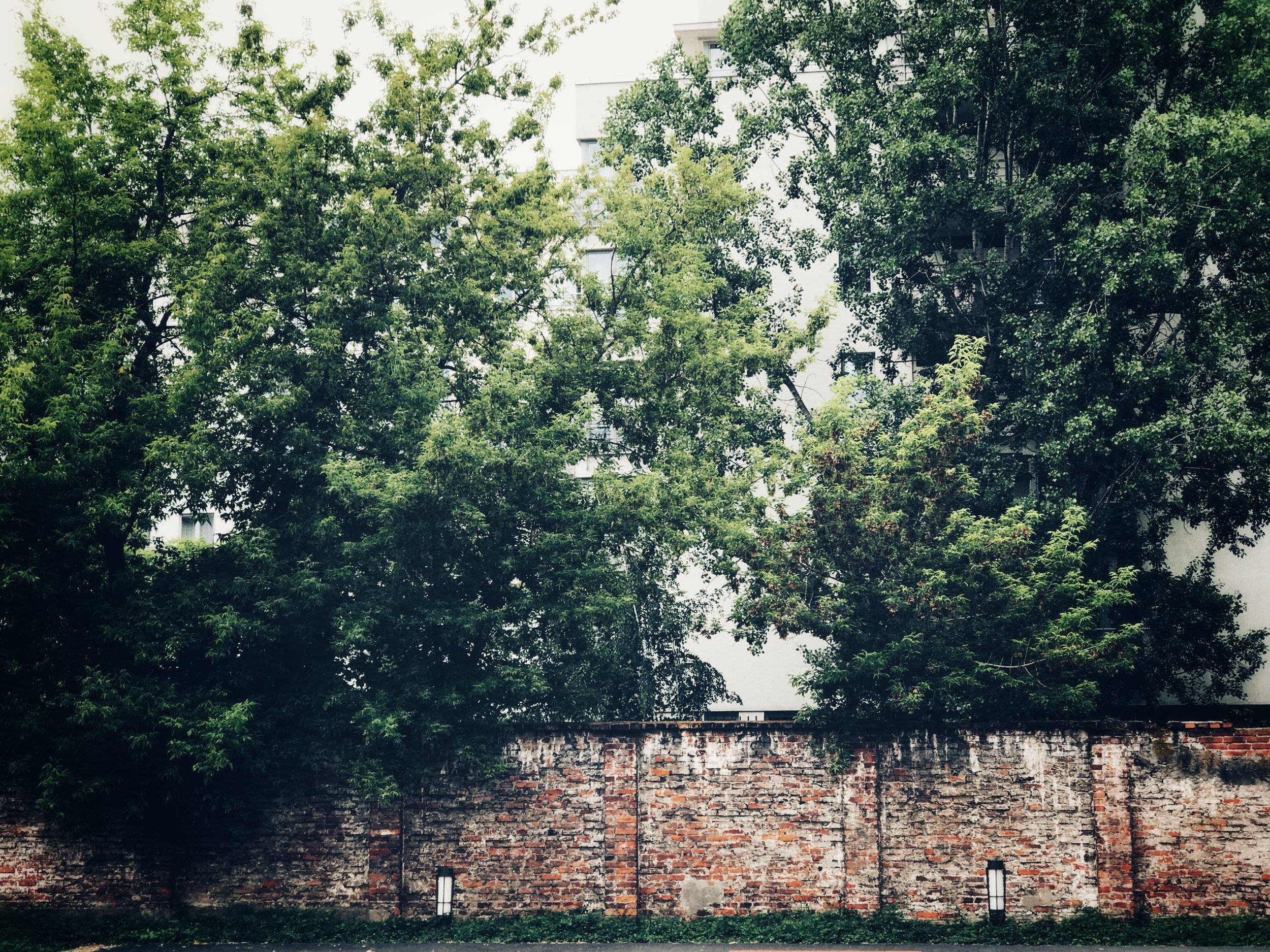 remains of the ghetto wall
