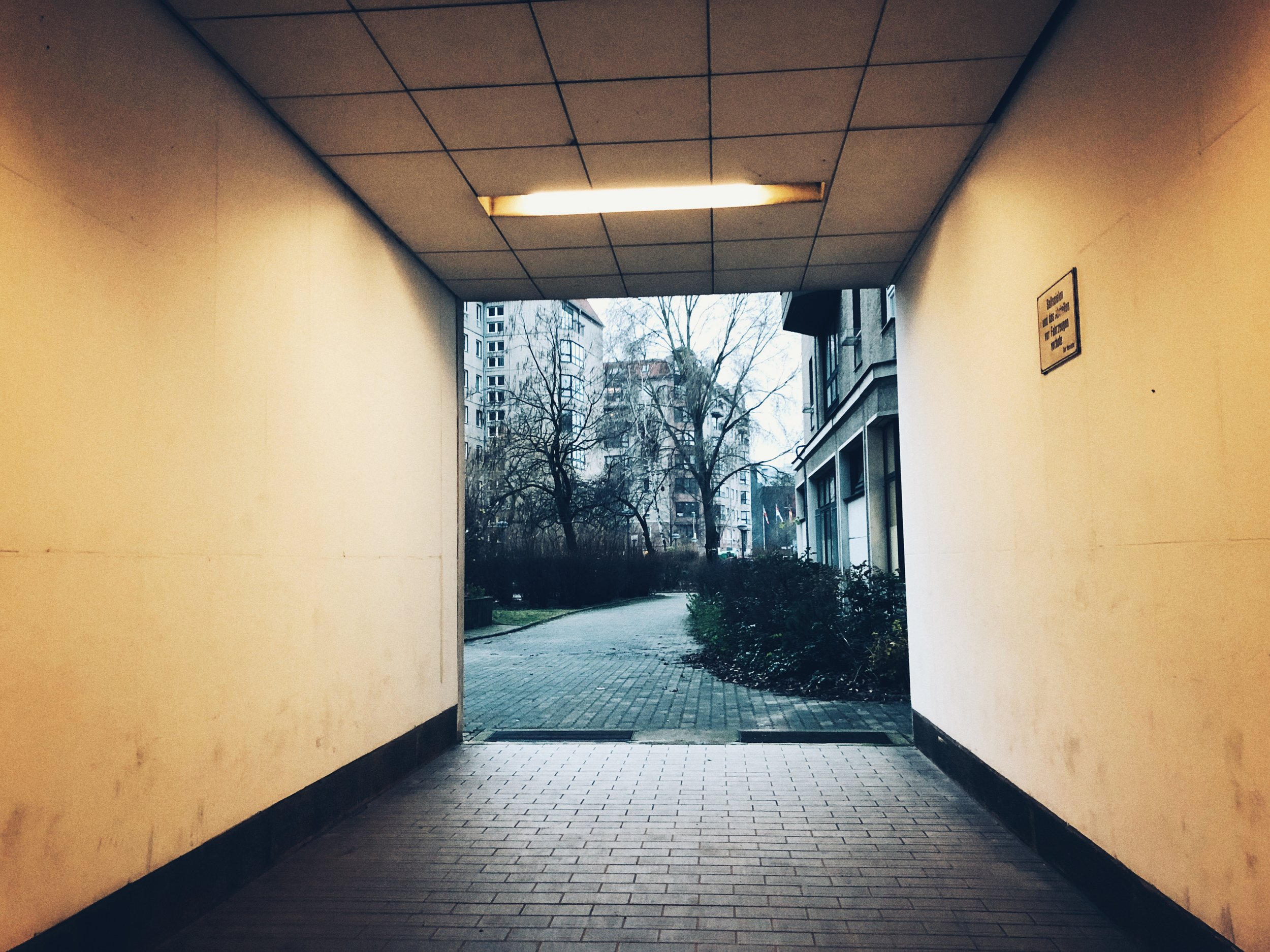 entrance to former site of hitler's bunker