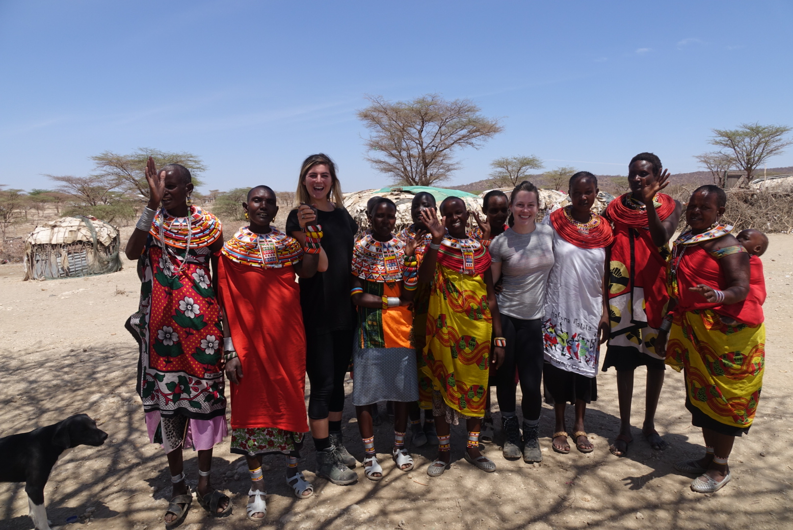 Welcomed into the matriarchal women's village in Samburu, Kenya on our first day.