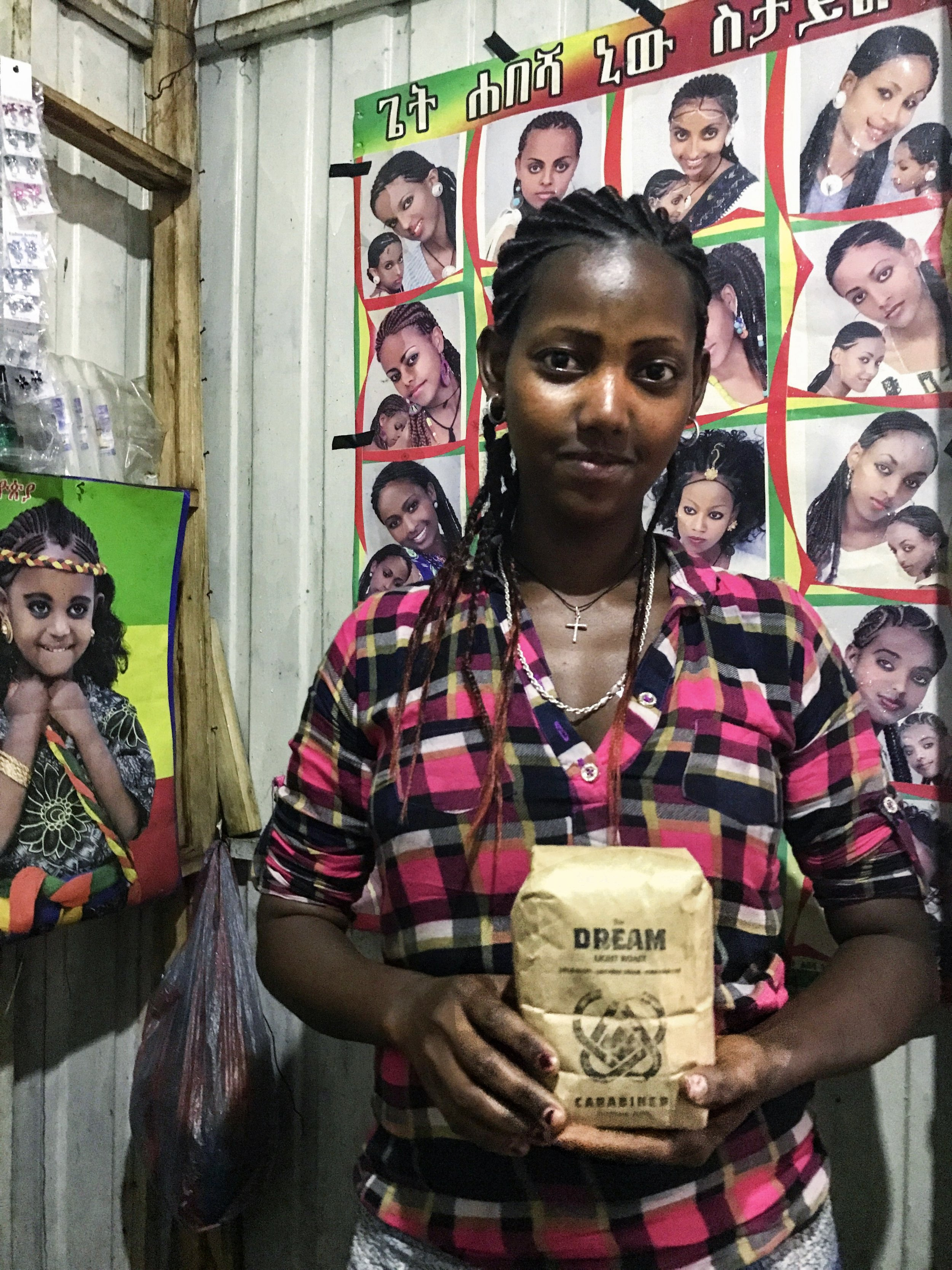 The woman pictured helped Brooke get ready for the Ashendiye Festival and was a special part of the experience in Lalibela. She told Brooke the next day that she dedicated her prayers that morning to Erik at Carabiner Coffee. Ameseginalu. -