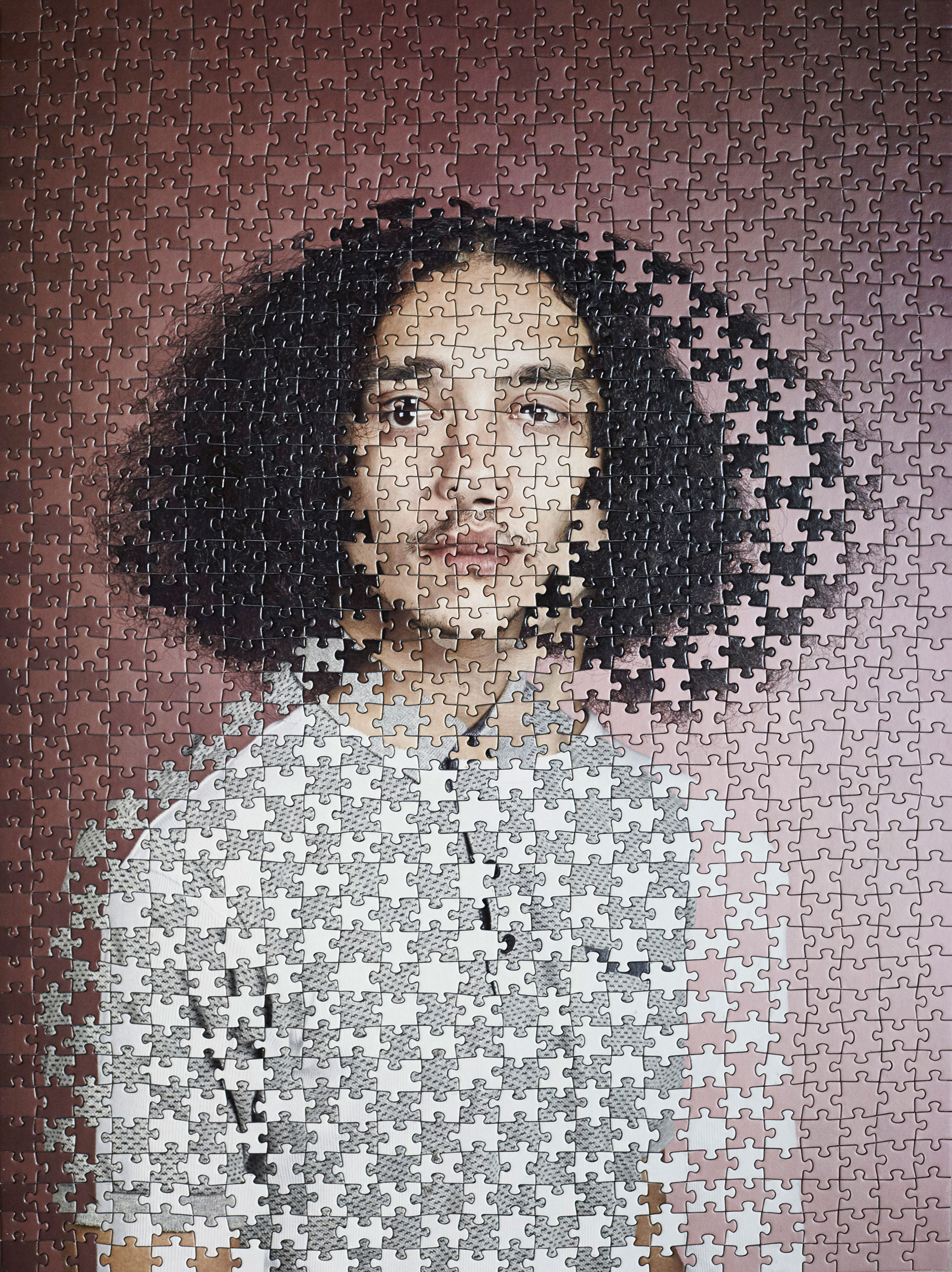 Alma Haser,  Lee and Clinton (1) , 2017  Digital pigment print puzzle (1000 pieces), 63.9 x 47.7 cm (approx. 25 x 19 in), edition of 6   Inquire