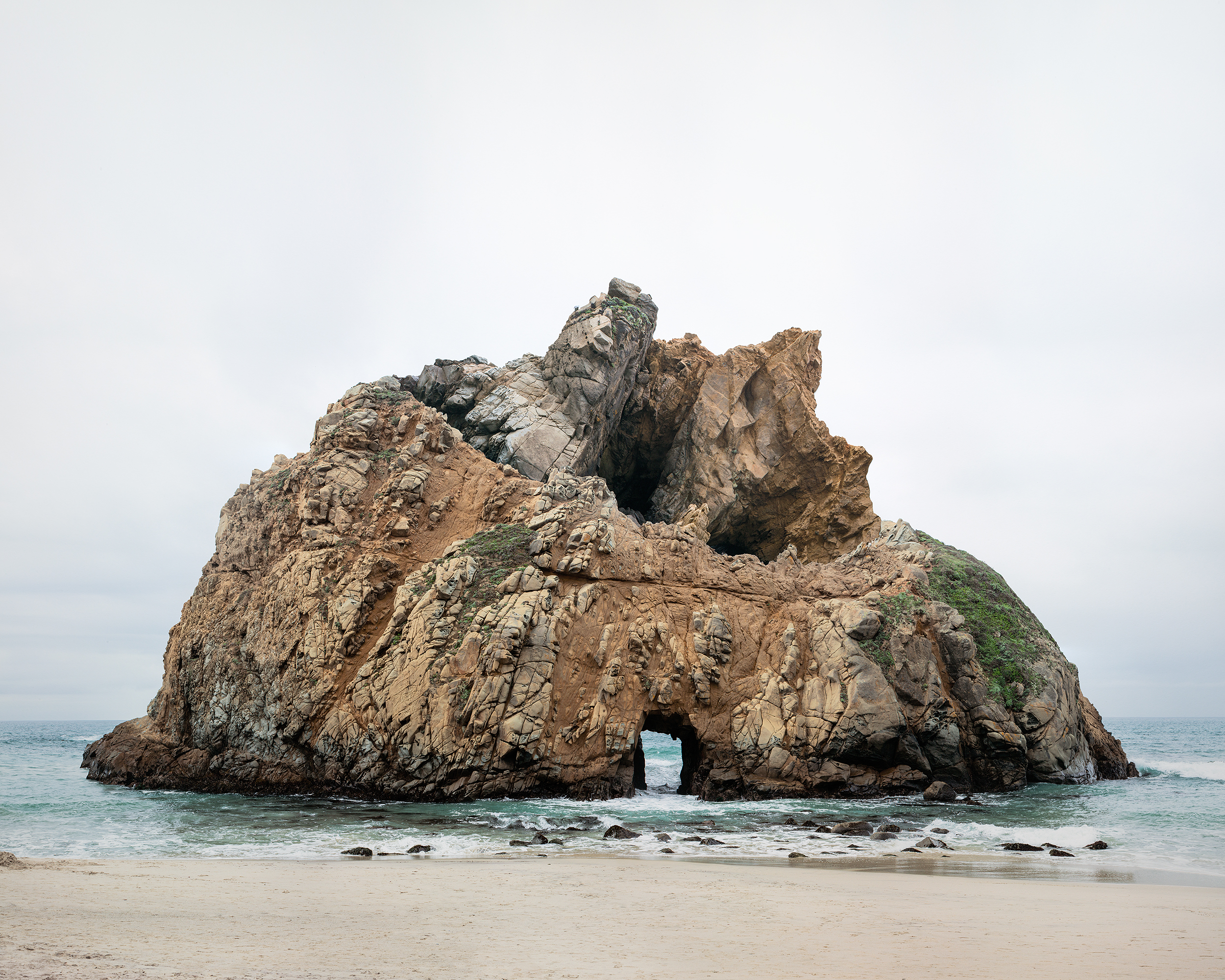 Laura Plageman,  Response to Print of Pfeiffer Beach, California , 2014  Digital pigment print, 40 x 50 in, edition of 4; 20 x 25 in, edition of 5   Inquire