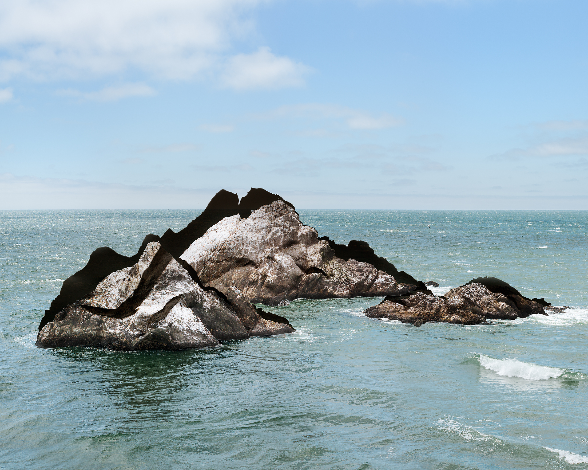 Laura Plageman,  Response to Print of Seal Rocks, California , 2014  Digital pigment print, 32 x 40 in, edition of 4; 20 x 25 in, edition of 5   Inquire