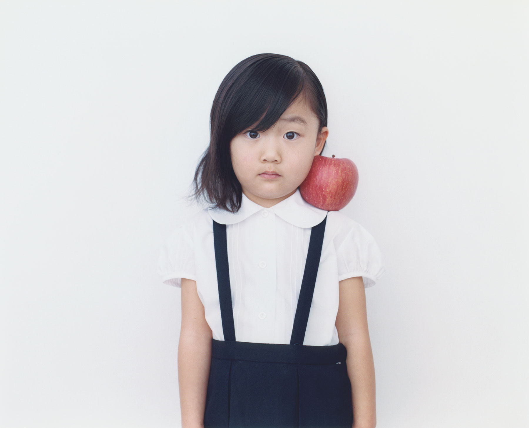 Osamu Yokonami,  1000 Children: Red Apple No. 14 , 2010-2013  Digital pigment print, 895 x 1105 mm (approx. 35 x 43.5 in), edition of 5; 146 x 168 mm (approx. 5.75 x 6.6 in), edition of 10   Inquire