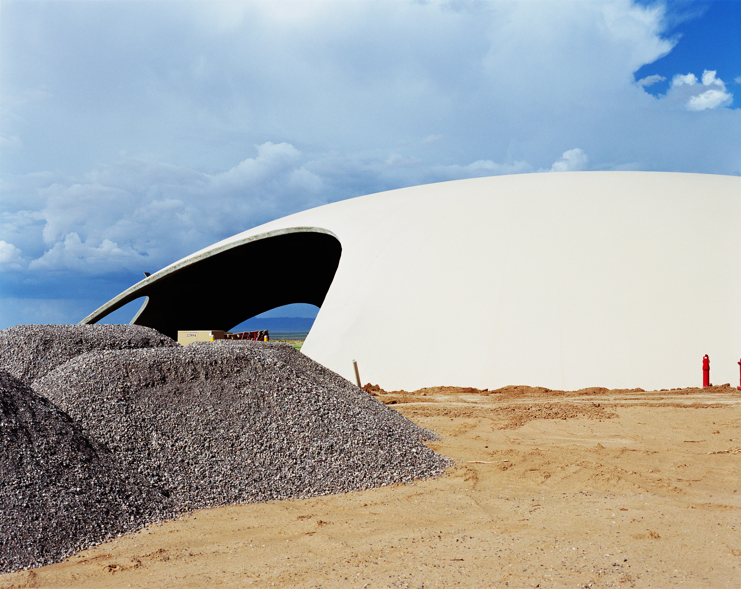 Connie Samaras,  Spaceport America: Dome Construction, Air Fire Rescue Facility, 2010   Digital pigment print, 24 x 30 inches, edition of 5   Inquire