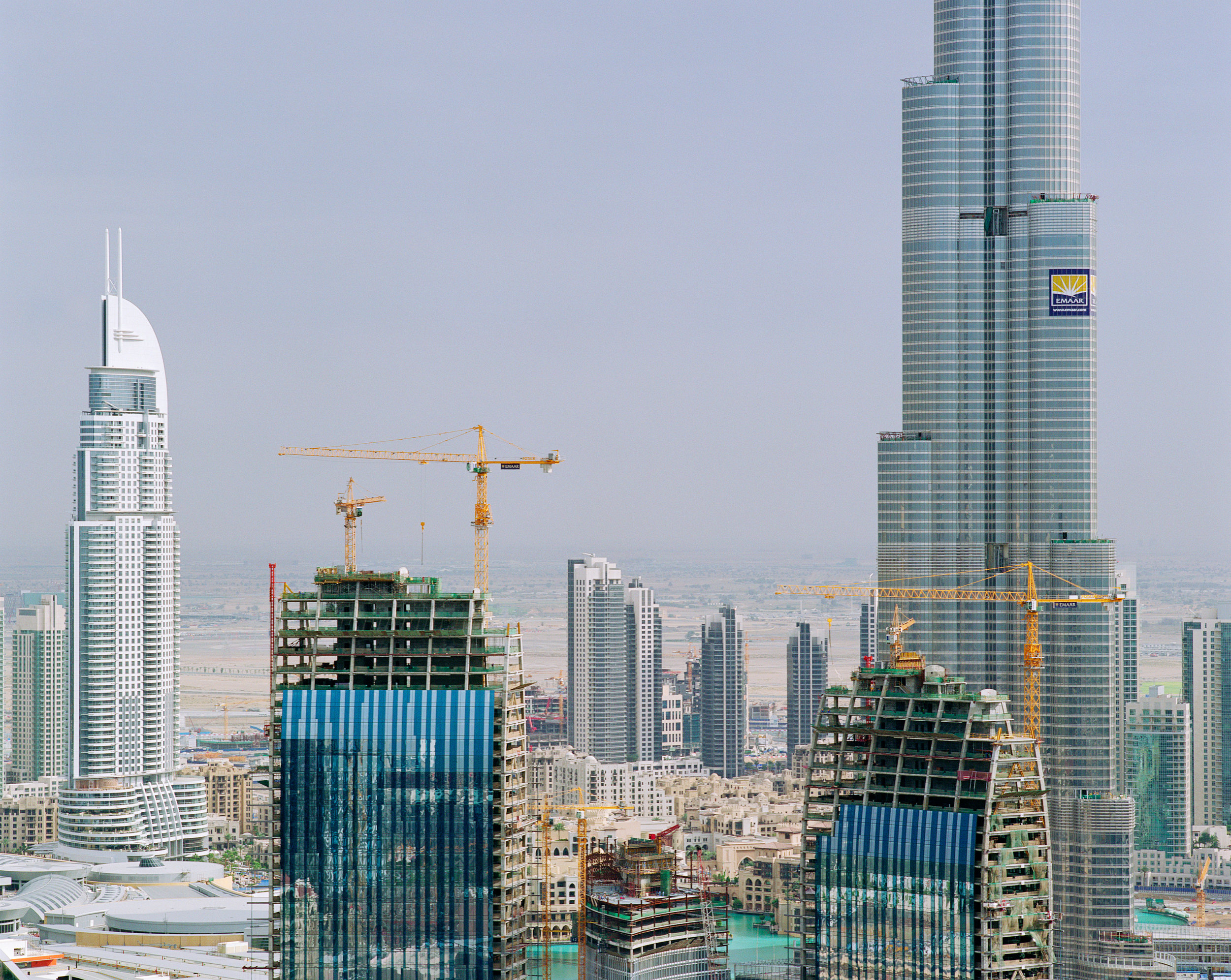 Connie Samaras,  After the American Century: Downtown Burj Dubai, Day, 2009   Digital pigment print, 40 x 48 inches, edition of 5   Inquire