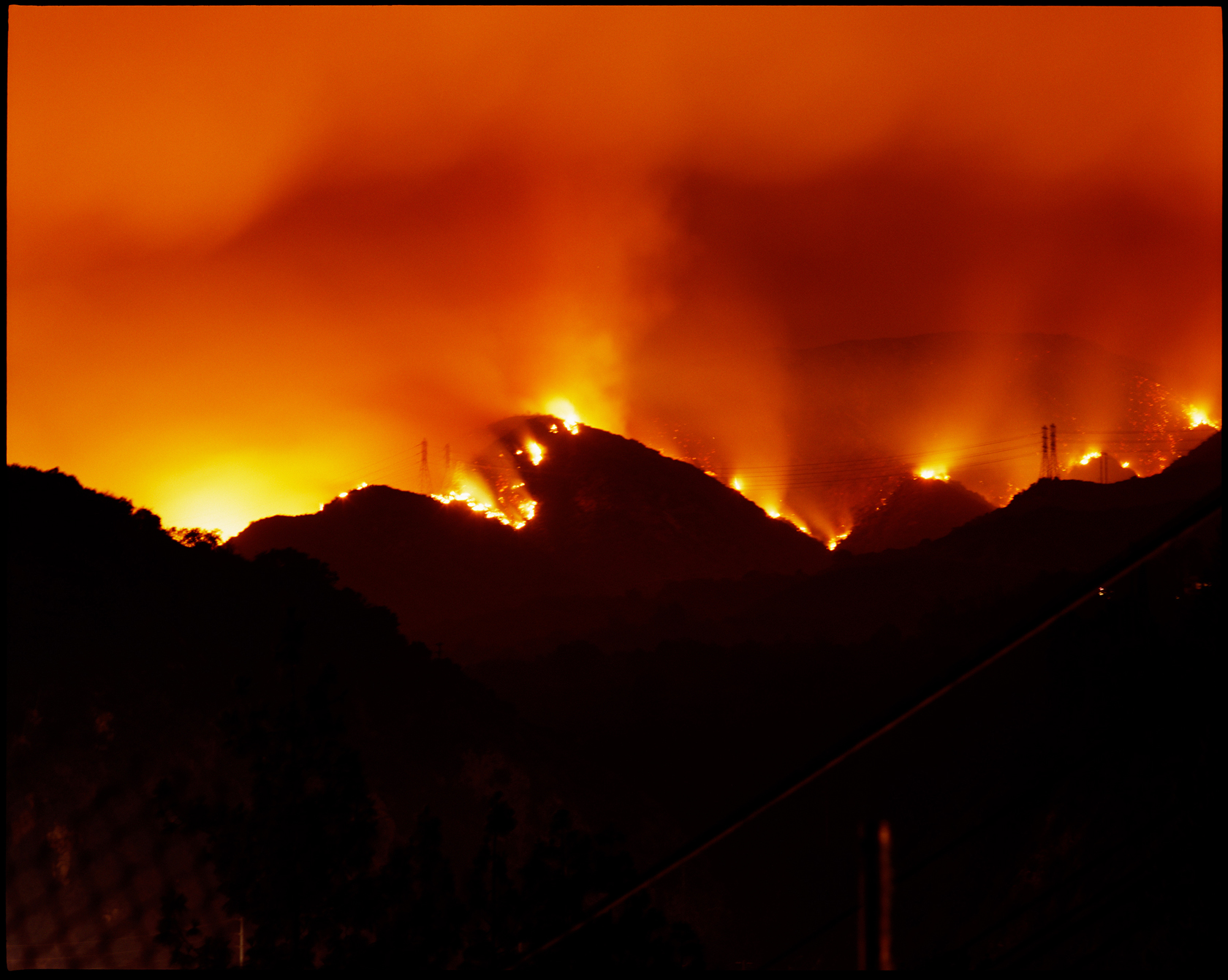Connie Samaras,  Surface Events: Station Fire, Pasadena, 2007   Digital pigment print, sizes and editions variable   Inquire