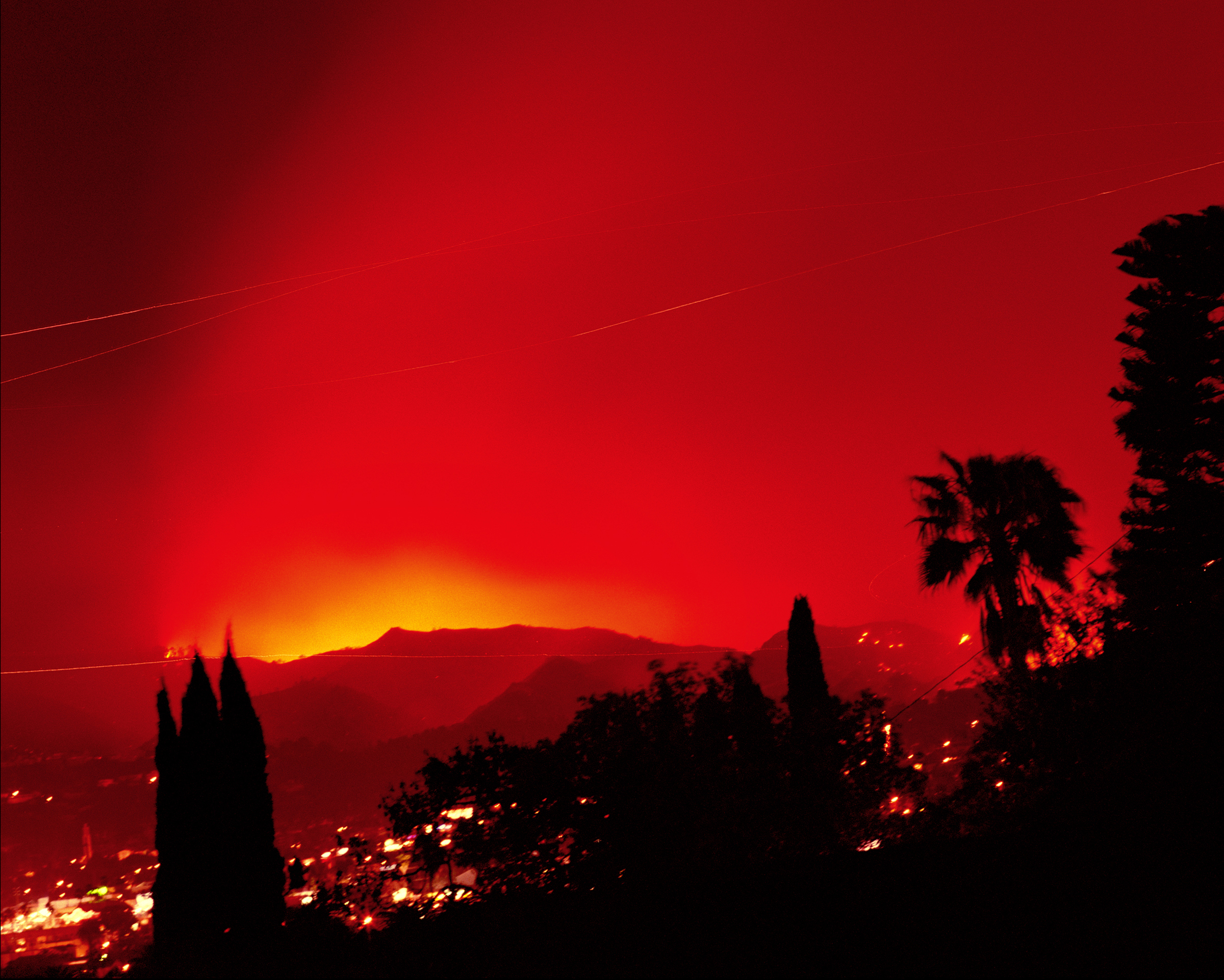 Connie Samaras,  Surface Events: Griffith Park Fire, 2007   Digital pigment print, sizes and editions variable   Inquire