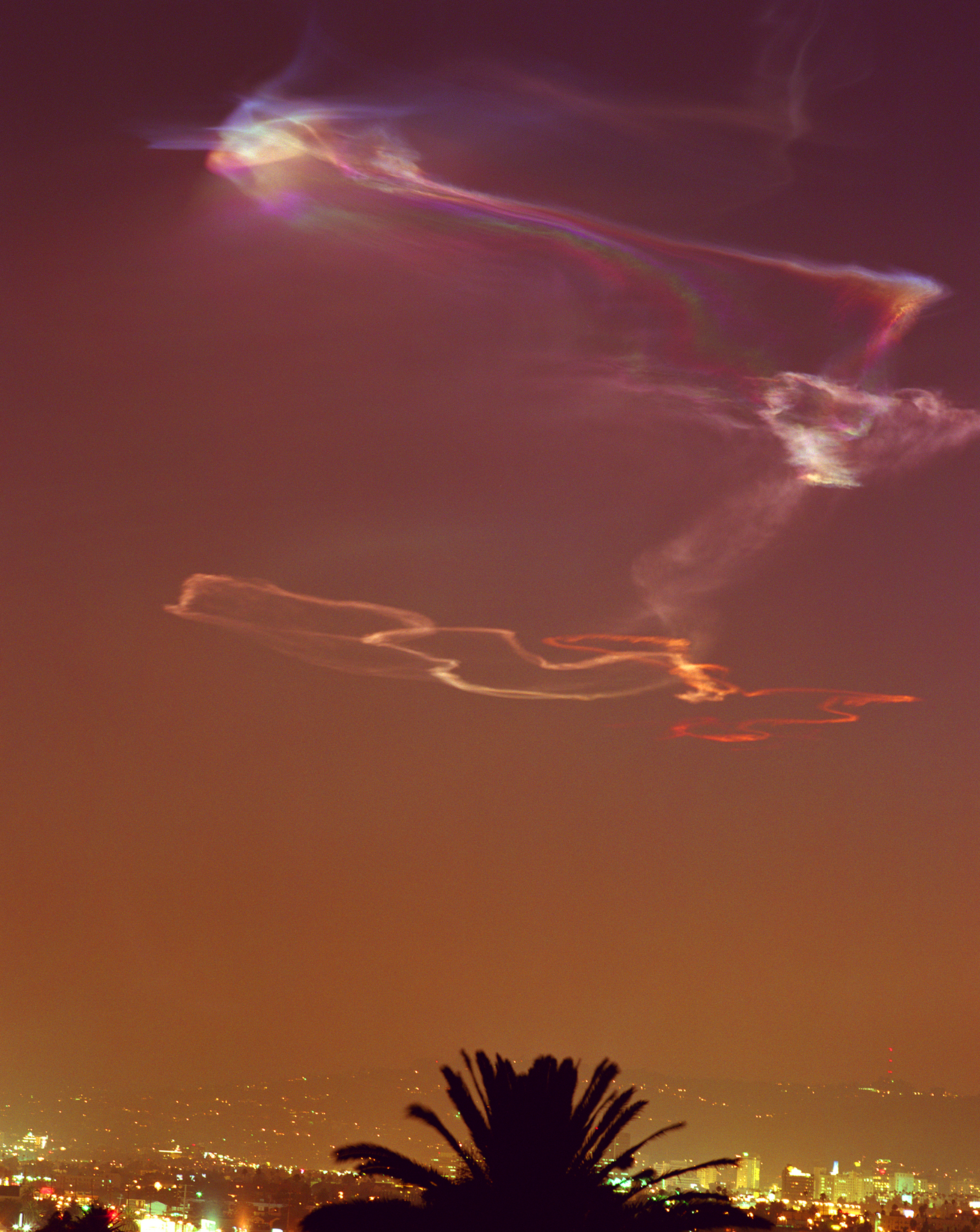 Connie Samaras,  Angelic States - Events Sequence: Minuteman Missile Over Los Angeles , 1998  Digital pigment print, 50 x 40 inches, edition of 5   Inquire