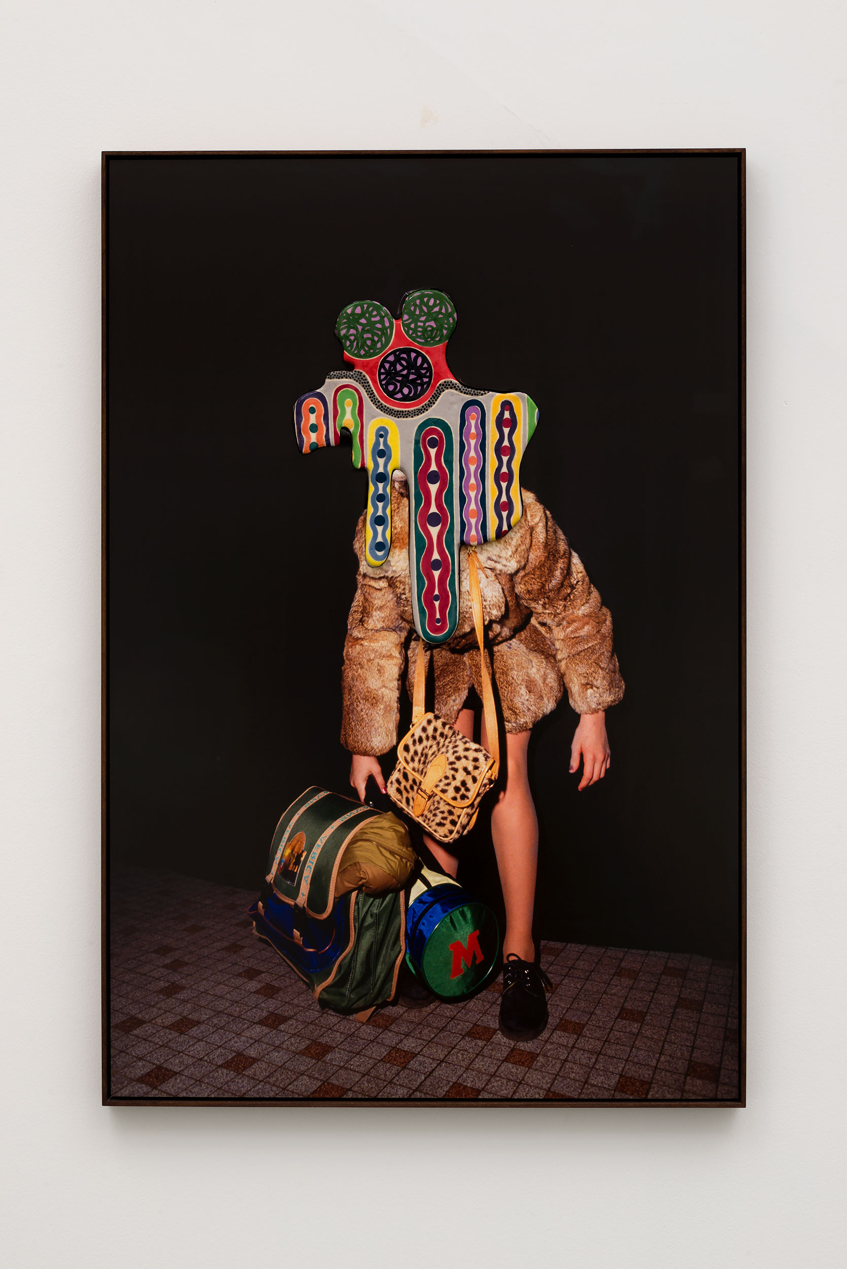 Denis Darzacq & Anna Lüneman,  Doublemix No. 50 , 2015  Digital pigment print with earthenware insert, 41.75 x 28 x 1.75 in (approx. 106 × 71 x 4 cm), unique   Inquire