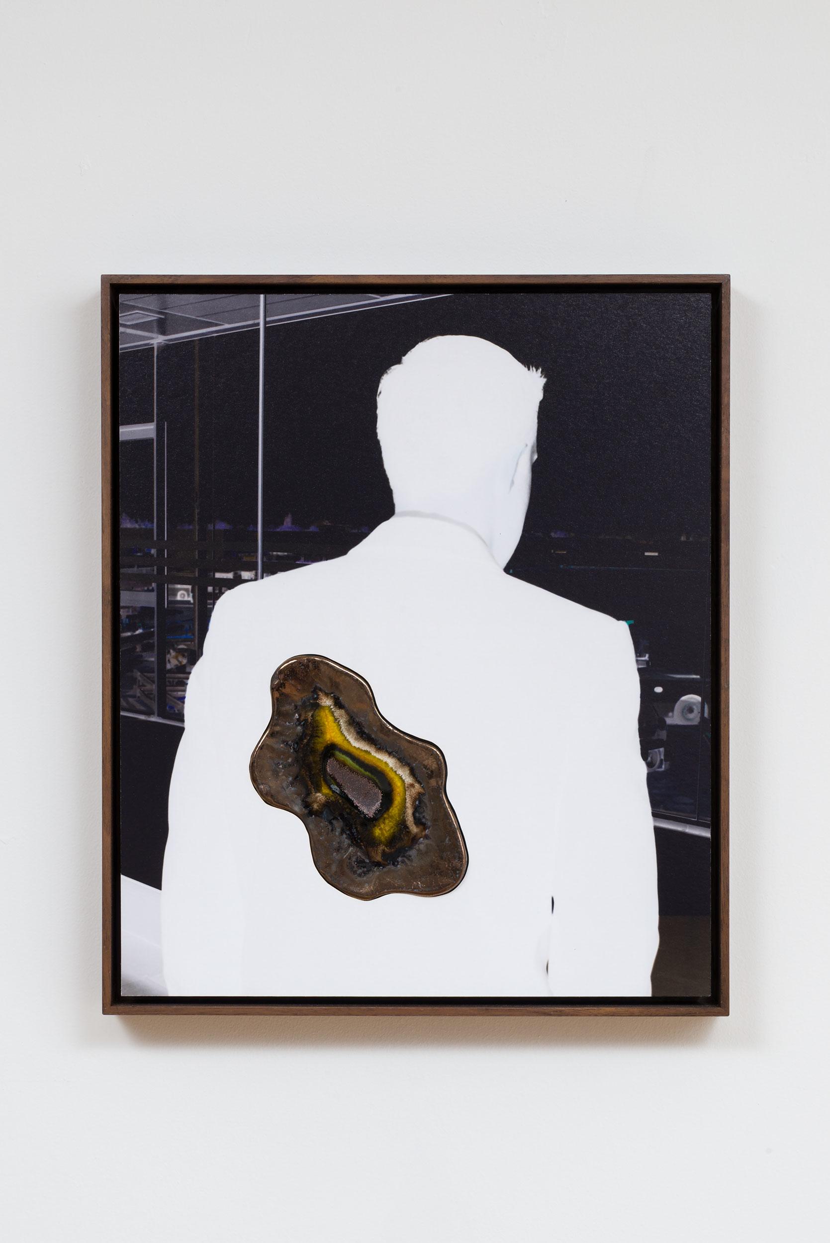 Denis Darzacq & Anna Lüneman,  Doublemix No. 20 , 2014  Digital pigment print with earthenware insert, 16.5 x 14 x 1.75 in (approx. 42 × 36 x 4 cm), unique   Inquire
