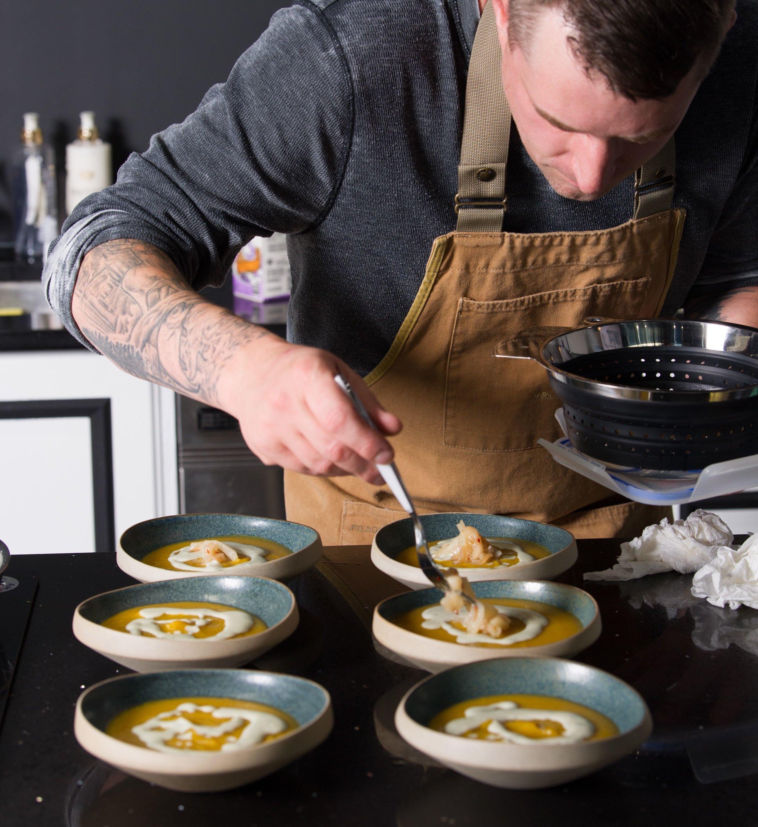 Butternut Bleu Squash Soup