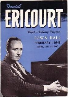 Music advertisement for Daniel Ericourt