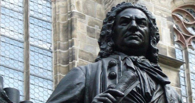 JS Bach statue in Leipzig