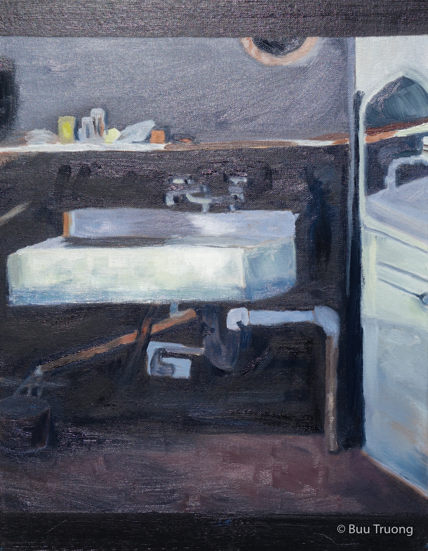 """Study of Diebenkorn's """"Corner of a Studio Sink"""""""