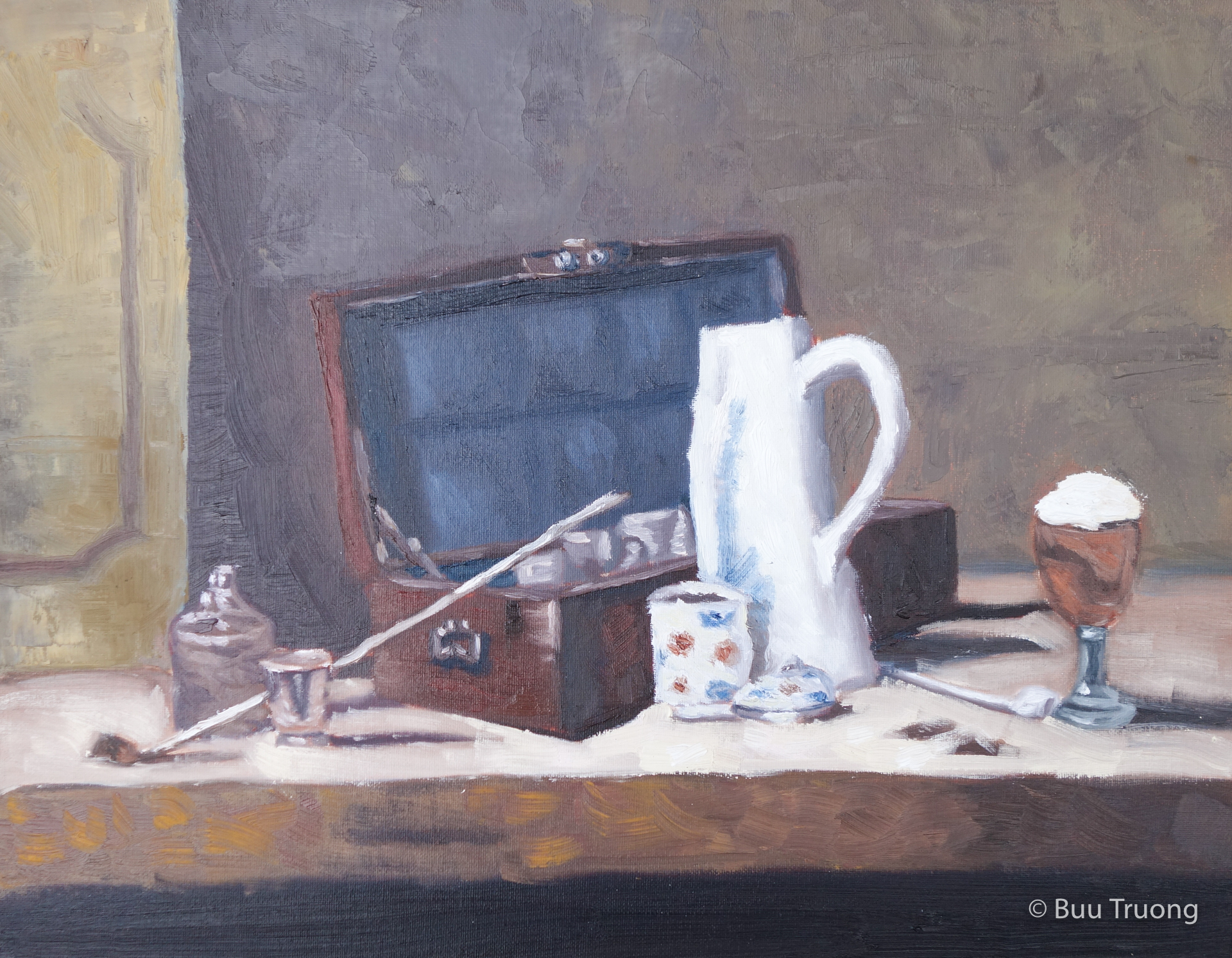 "Study of Chardin's ""The Smoker's Case"""