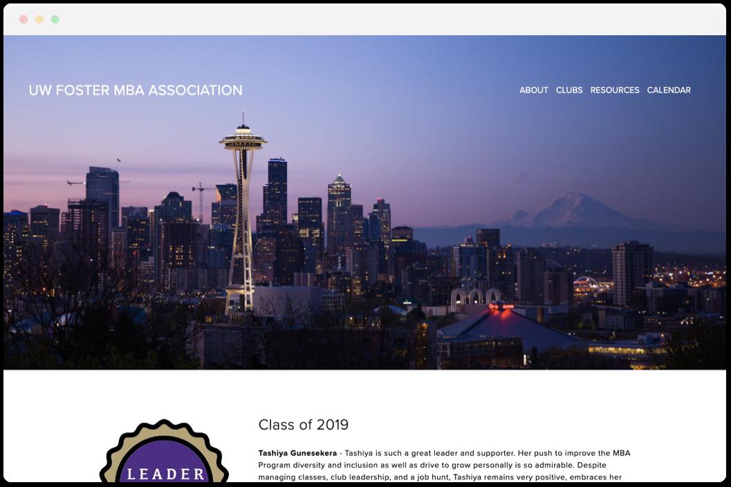 UW Foster MBA Association   • Education