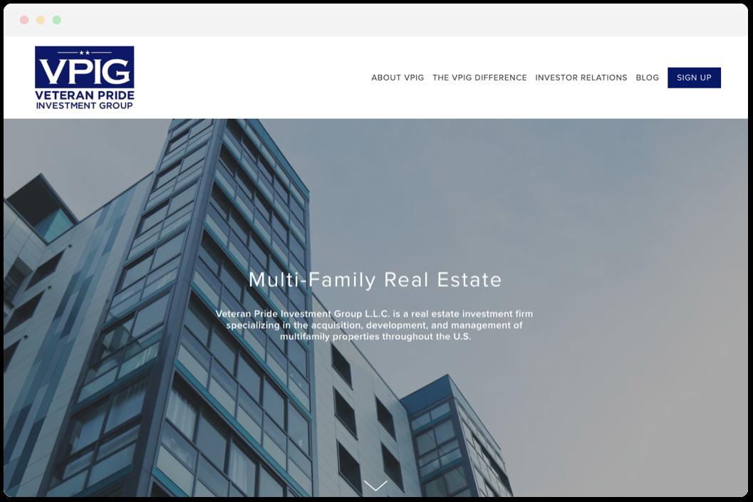 Veteran Pride Investment Group   • Real Estate