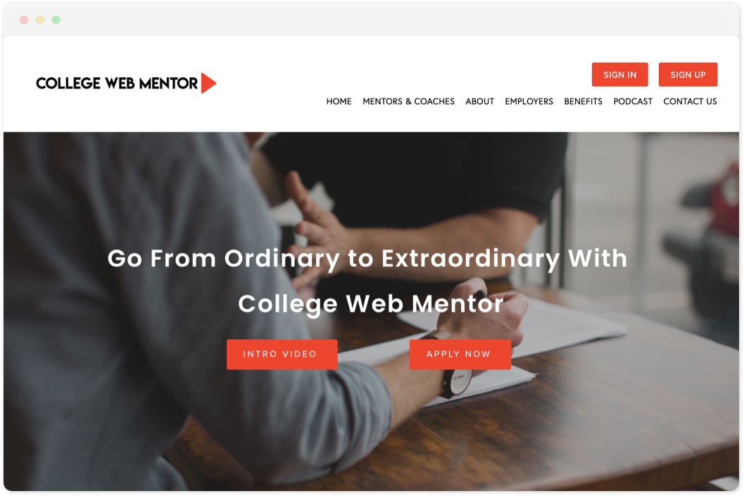 College Web Mentor  • Education
