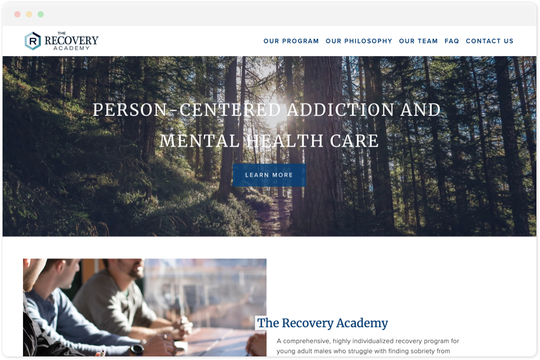 The Recovery Academy   • Counseling