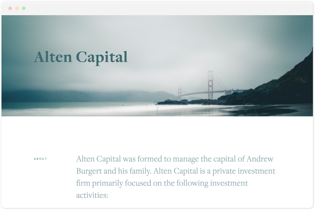 Alten Capital   • Investment