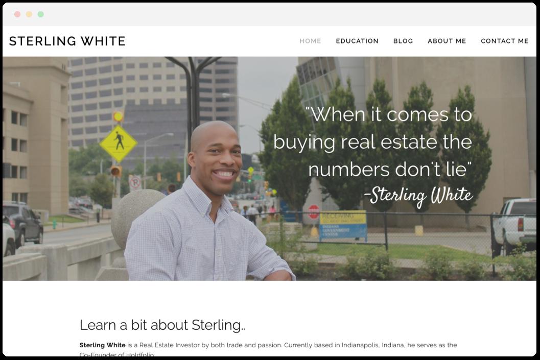 Sterling White   • Real Estate