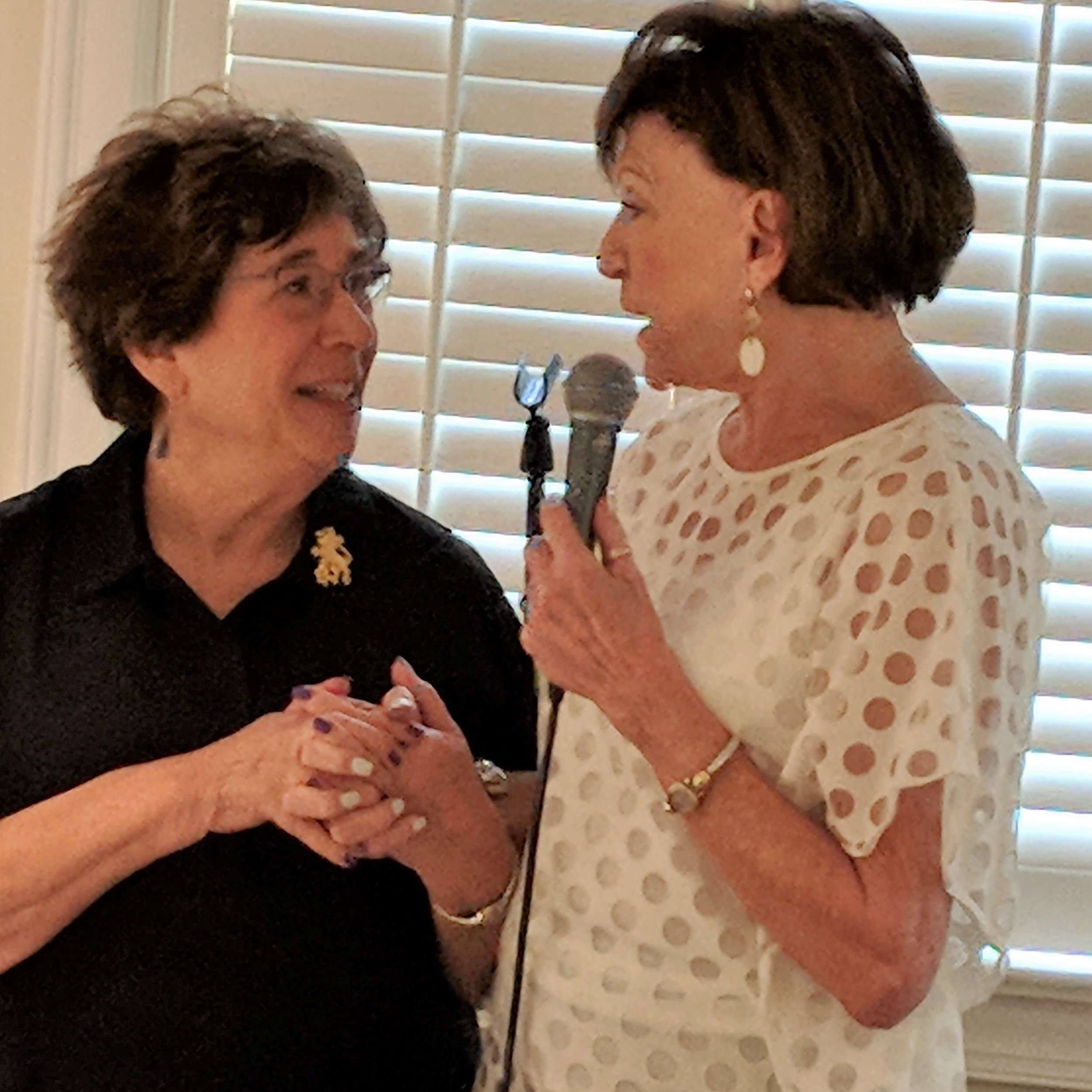 Claidia Kadis & Carole Guld at the LOJ luncheon at the Gregg Museum