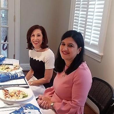 Elizabeth Ross and Marcia Davis at the LOJ Gregg Museum luncheon