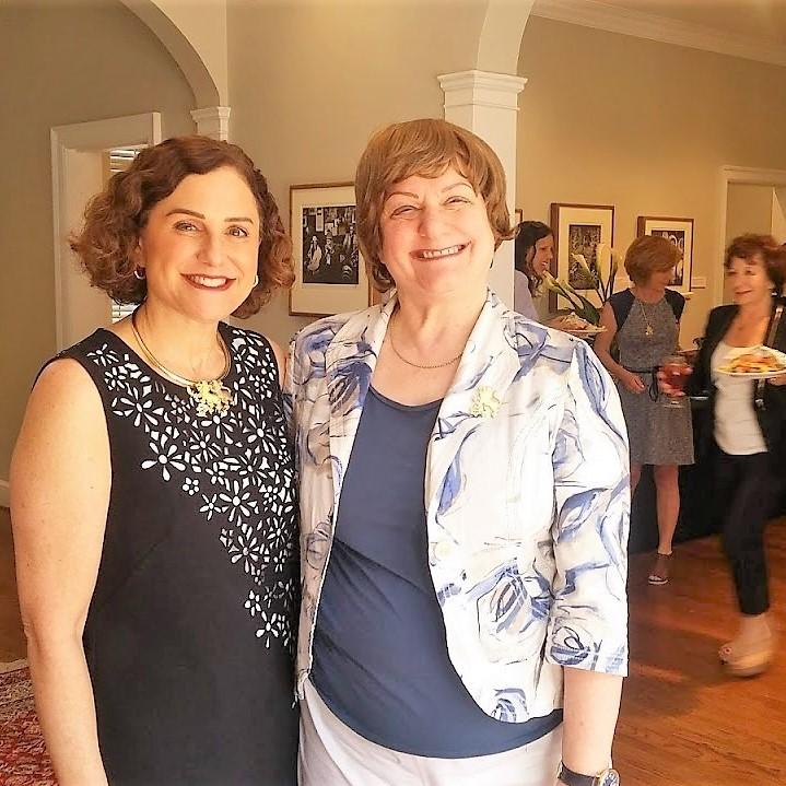 LOJ Chair, Amy Bush and Susan Goldhaber at the LOJ Gregg Museum luncheon