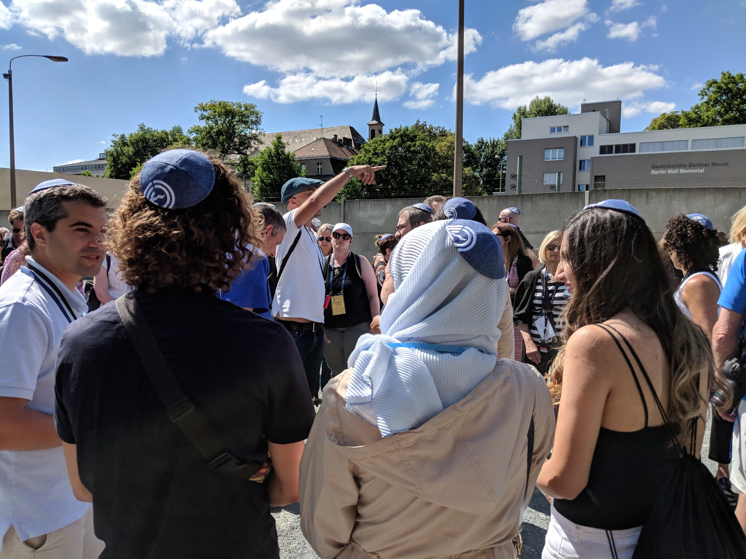 Solidarity at the Kippah Walk, East Berlin